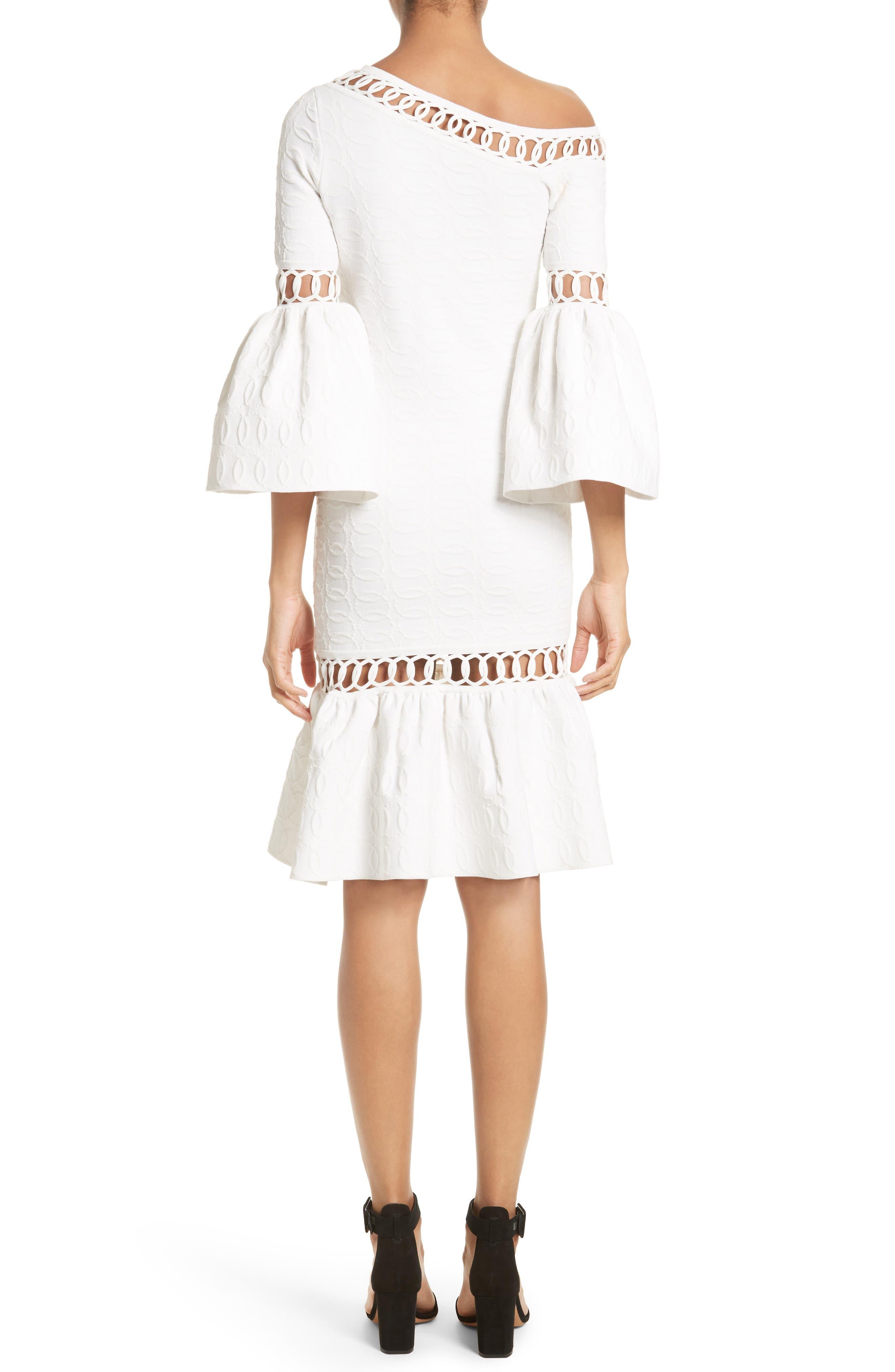 Alternate Image 2  - Jonathan Simkhai Chain Link Lace Fit & Flare Dress