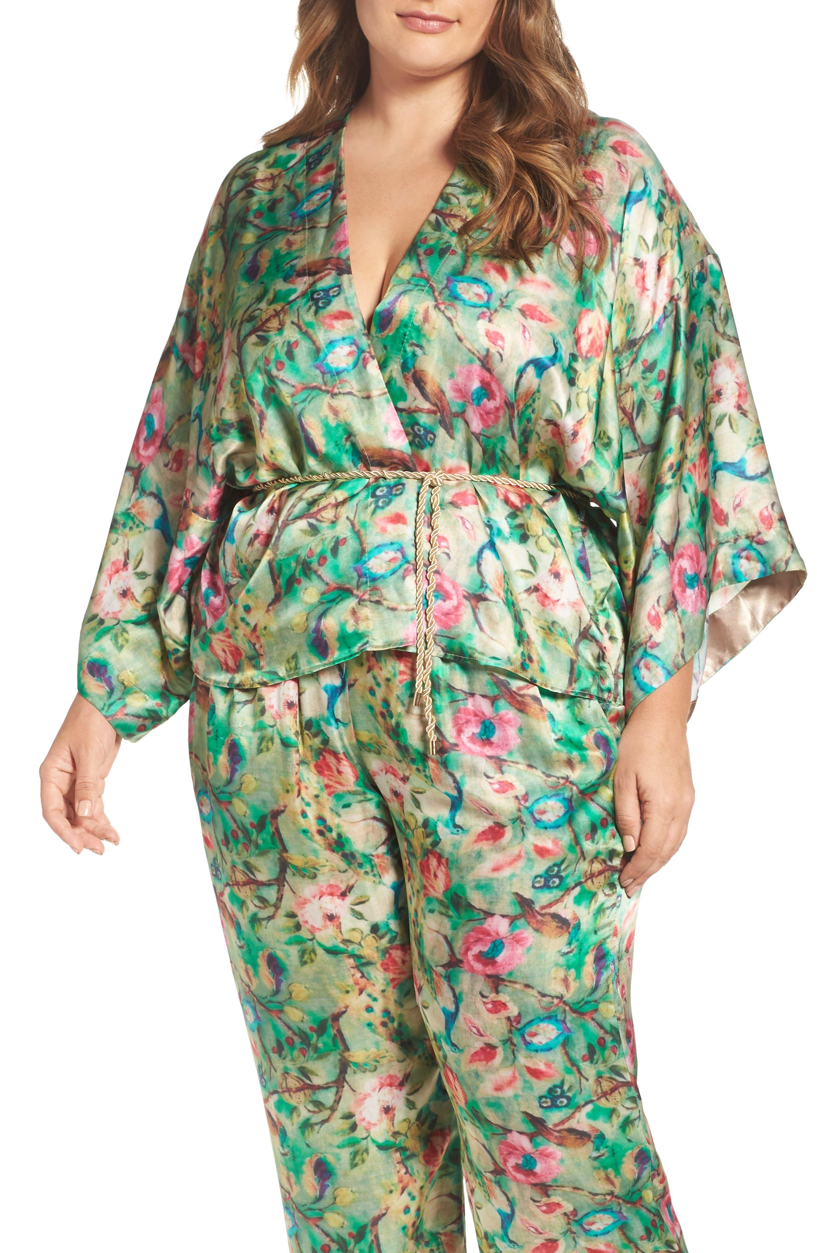 Main Image - ELVI Beleted Floral Komono Jacket