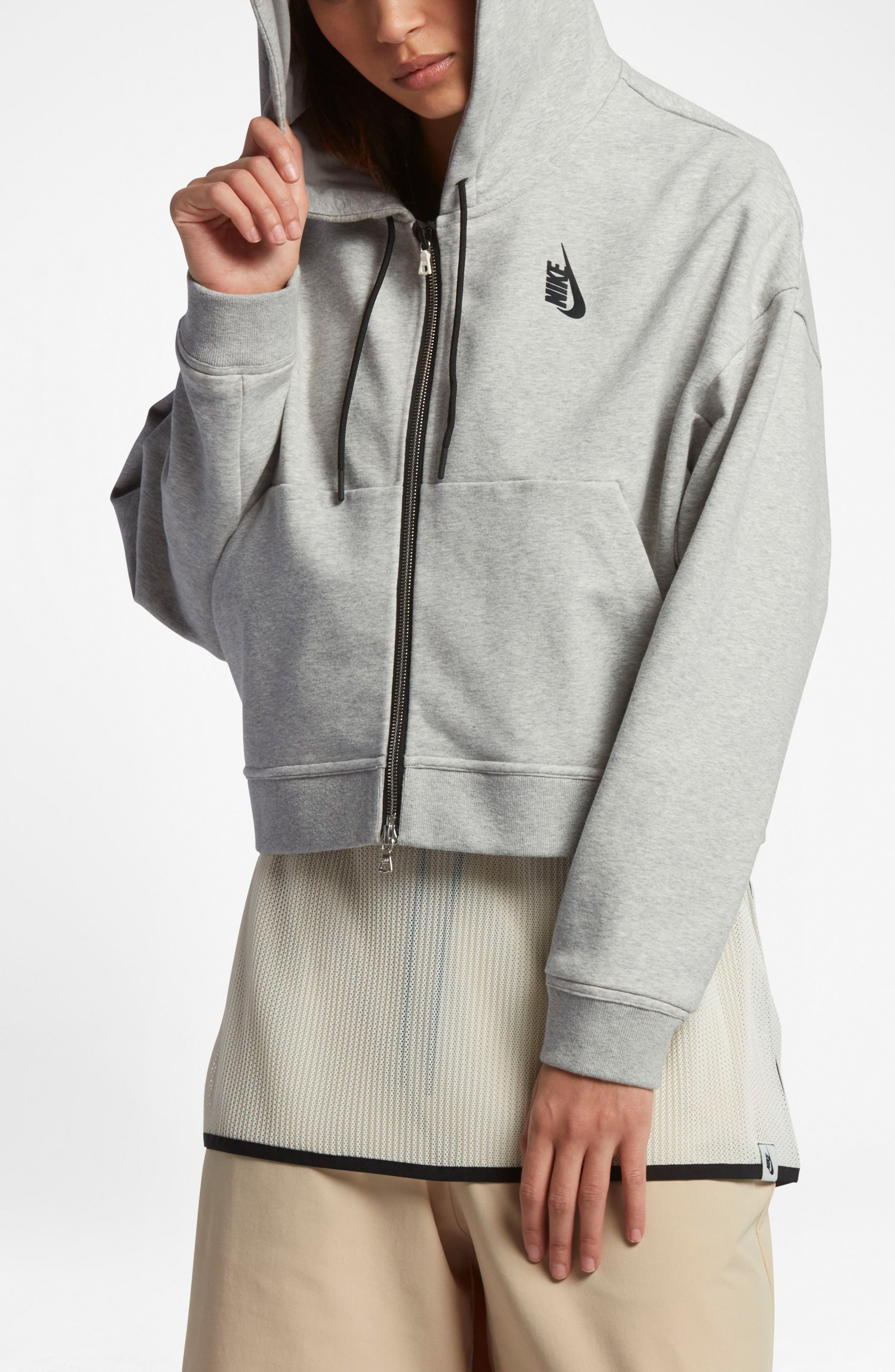 Alternate Image 4  - Nike Lab Essentials Crop Hoodie