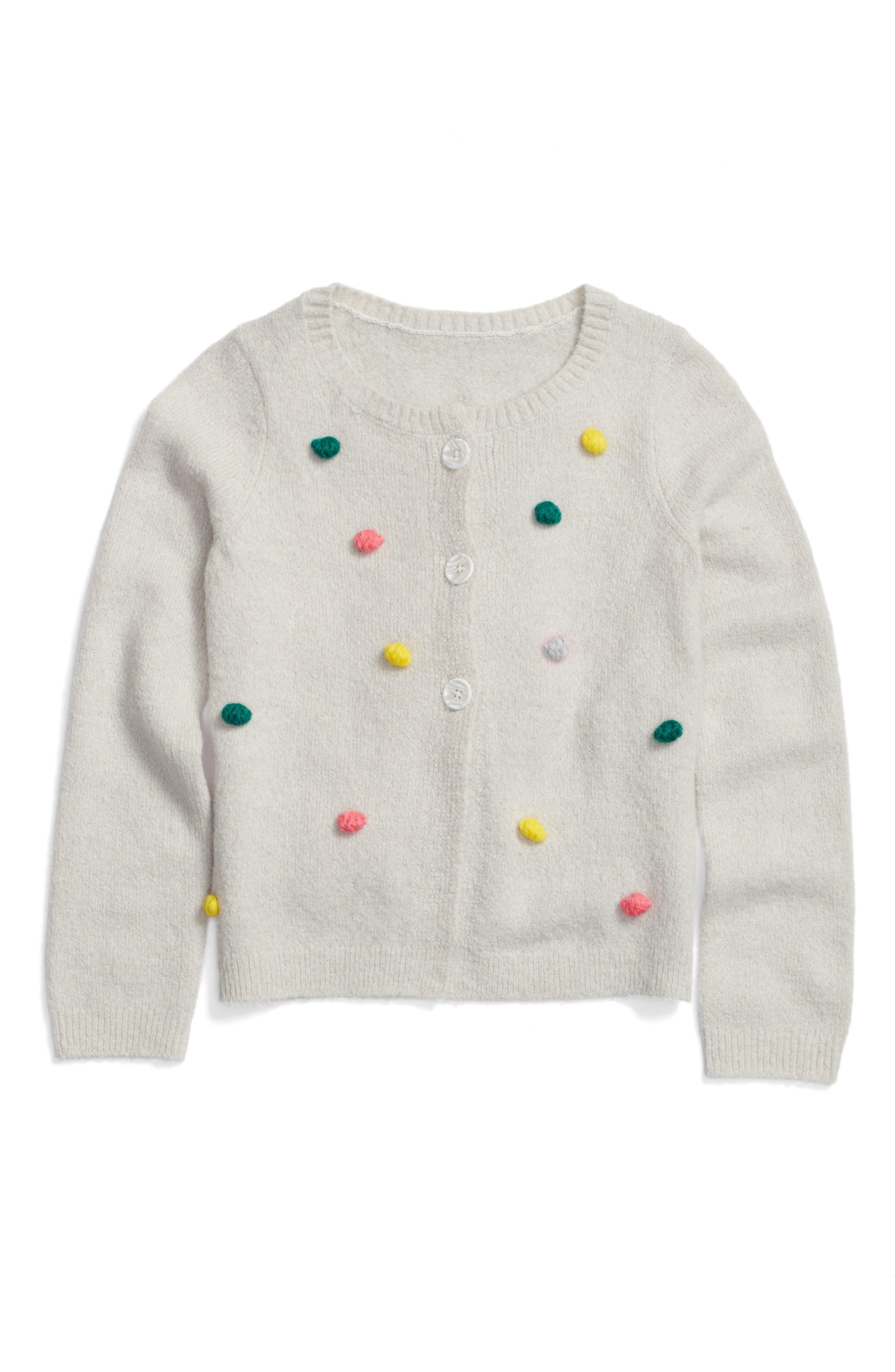 Tucker + Tate Bobble Pompom Polka Dot Cardigan (Toddler Girls, Little Girls & Big Girls)