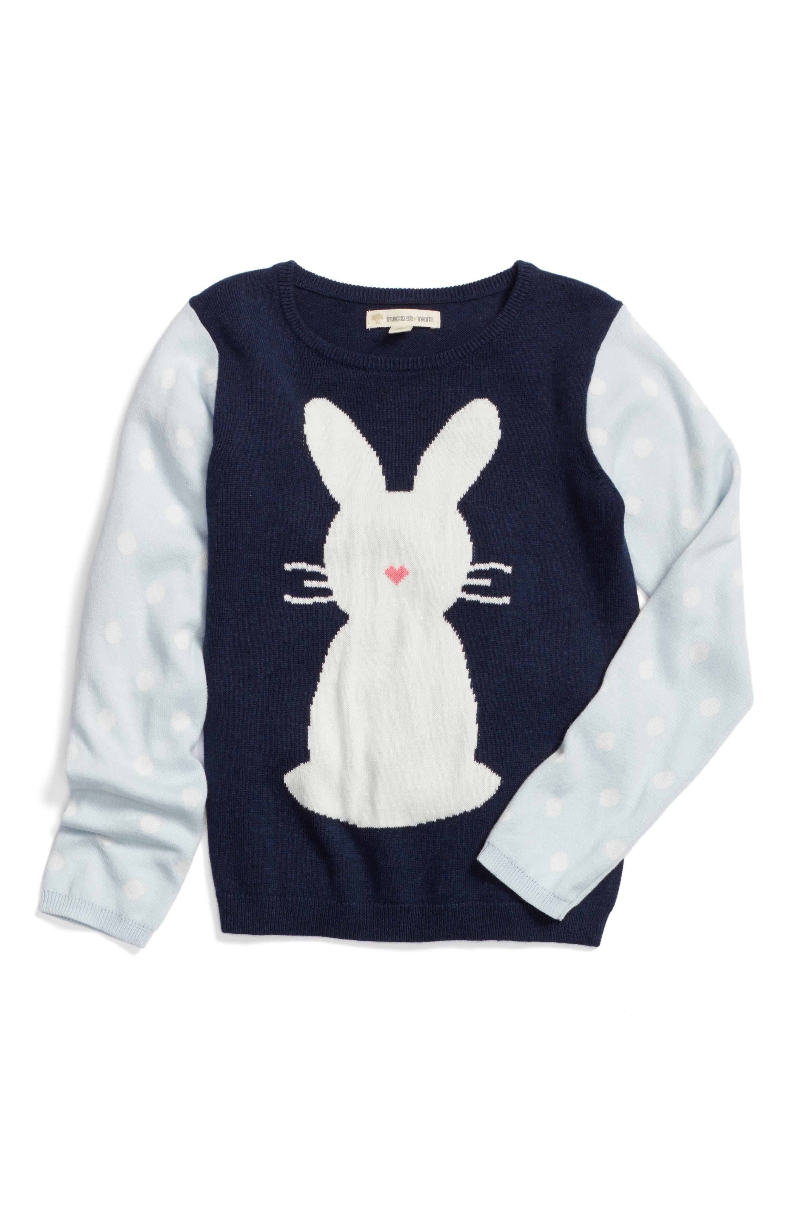 Tucker + Tate Intarsia Bunny Sweater (Toddler Girls, Little Girls & Big Girls)