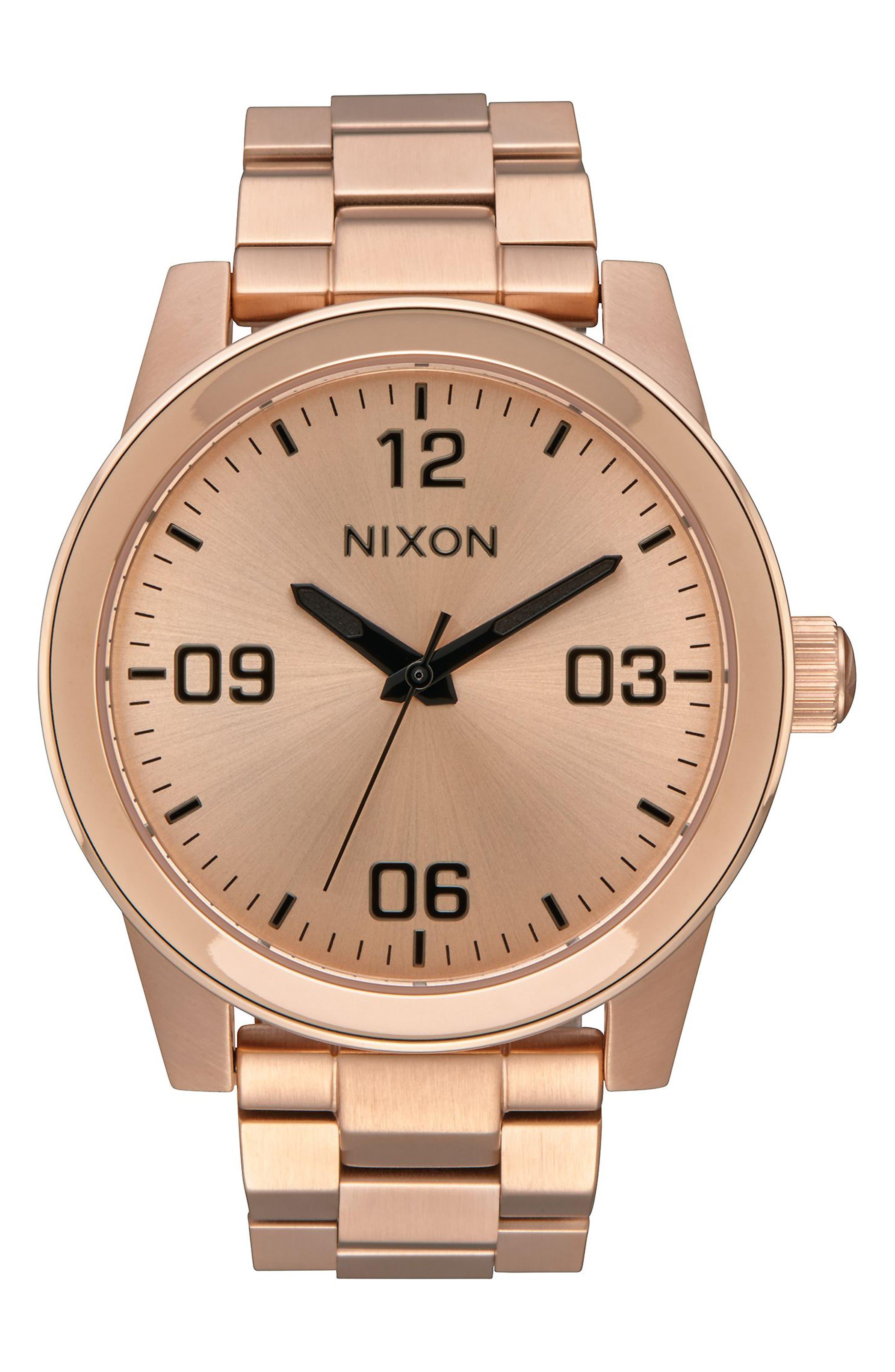 Nixon GI Bracelet Watch, 36mm