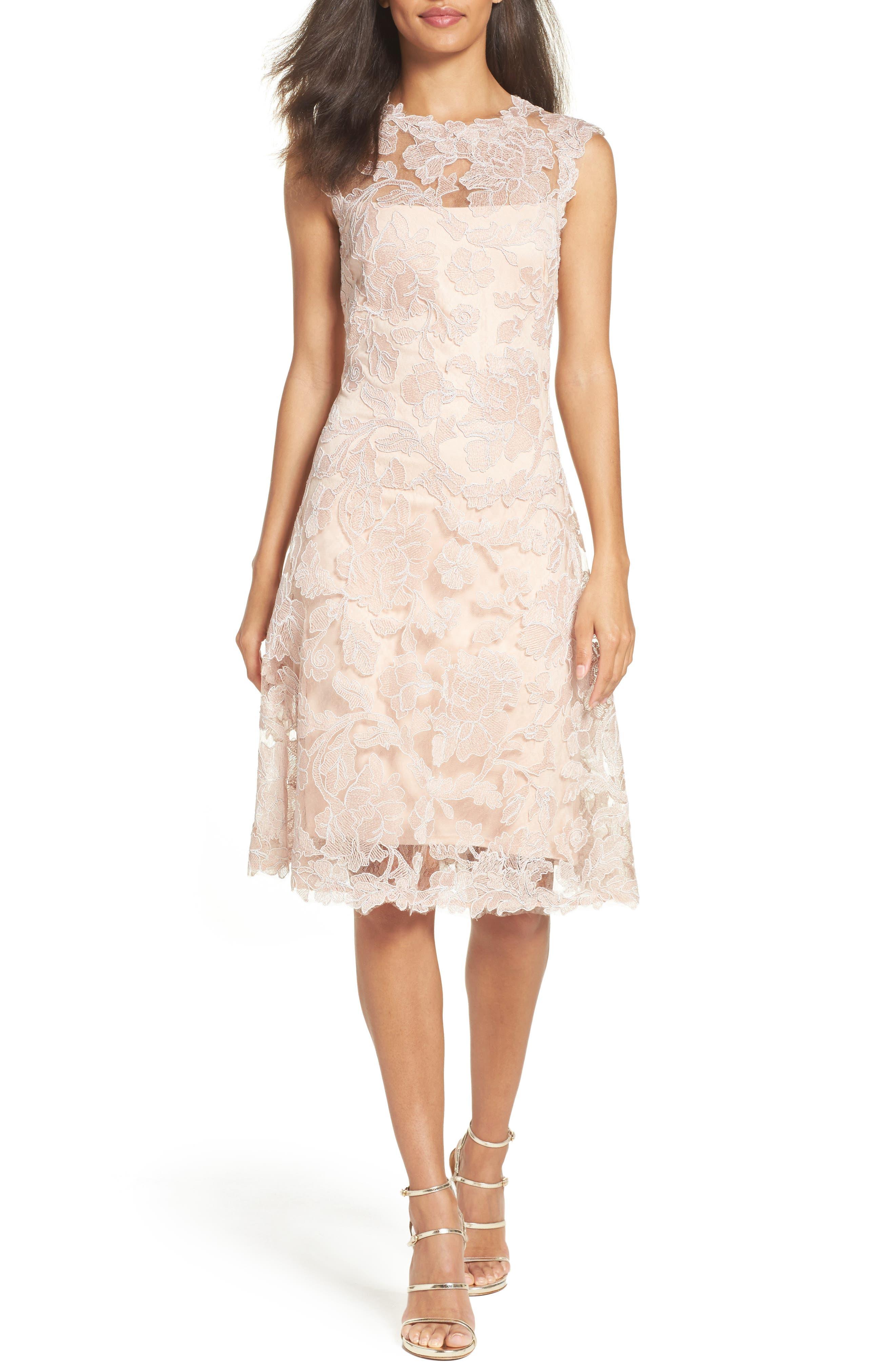 Fit & Flare Dress,                         Main,                         color, Antique Pink