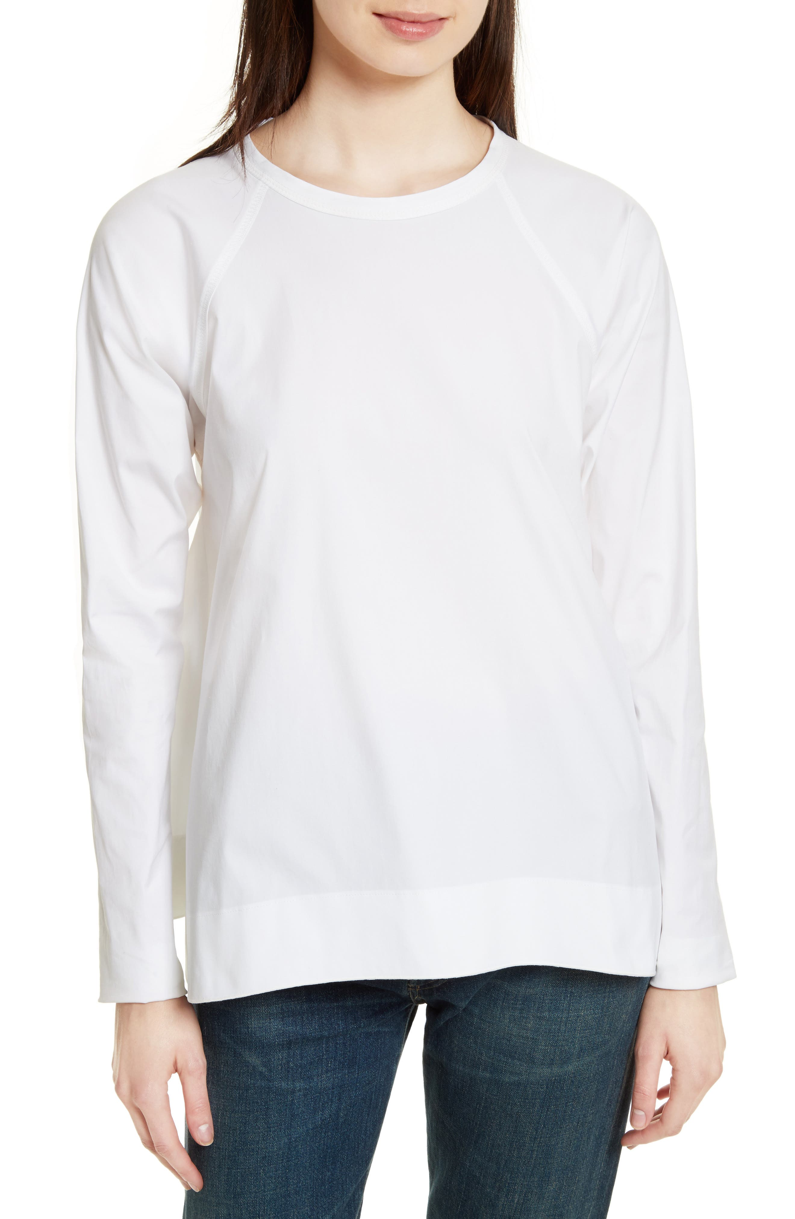 Theory Swing Stretch Cotton Top