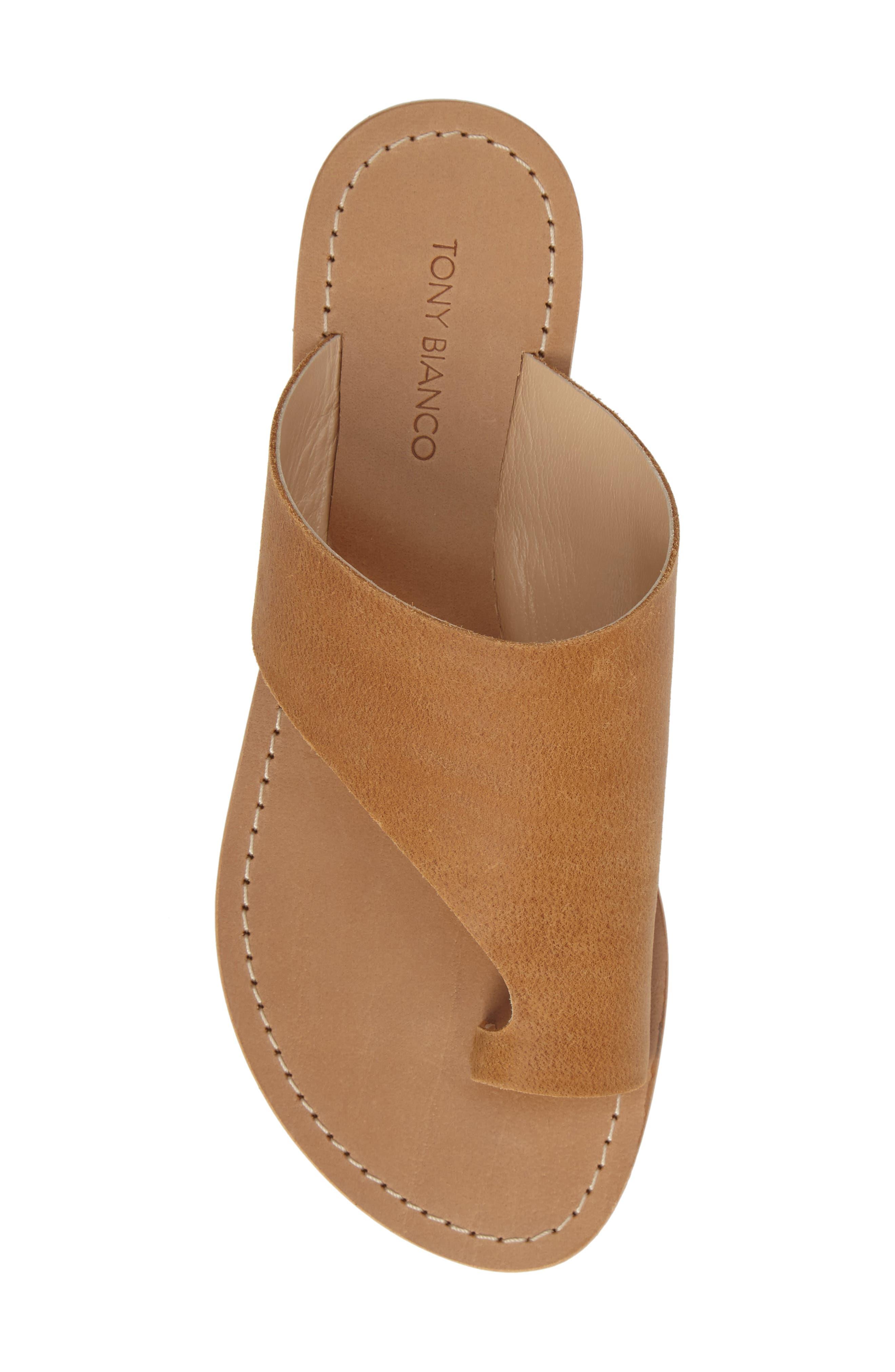 Fleet Slide Sandal,                             Alternate thumbnail 5, color,                             Tan Leather