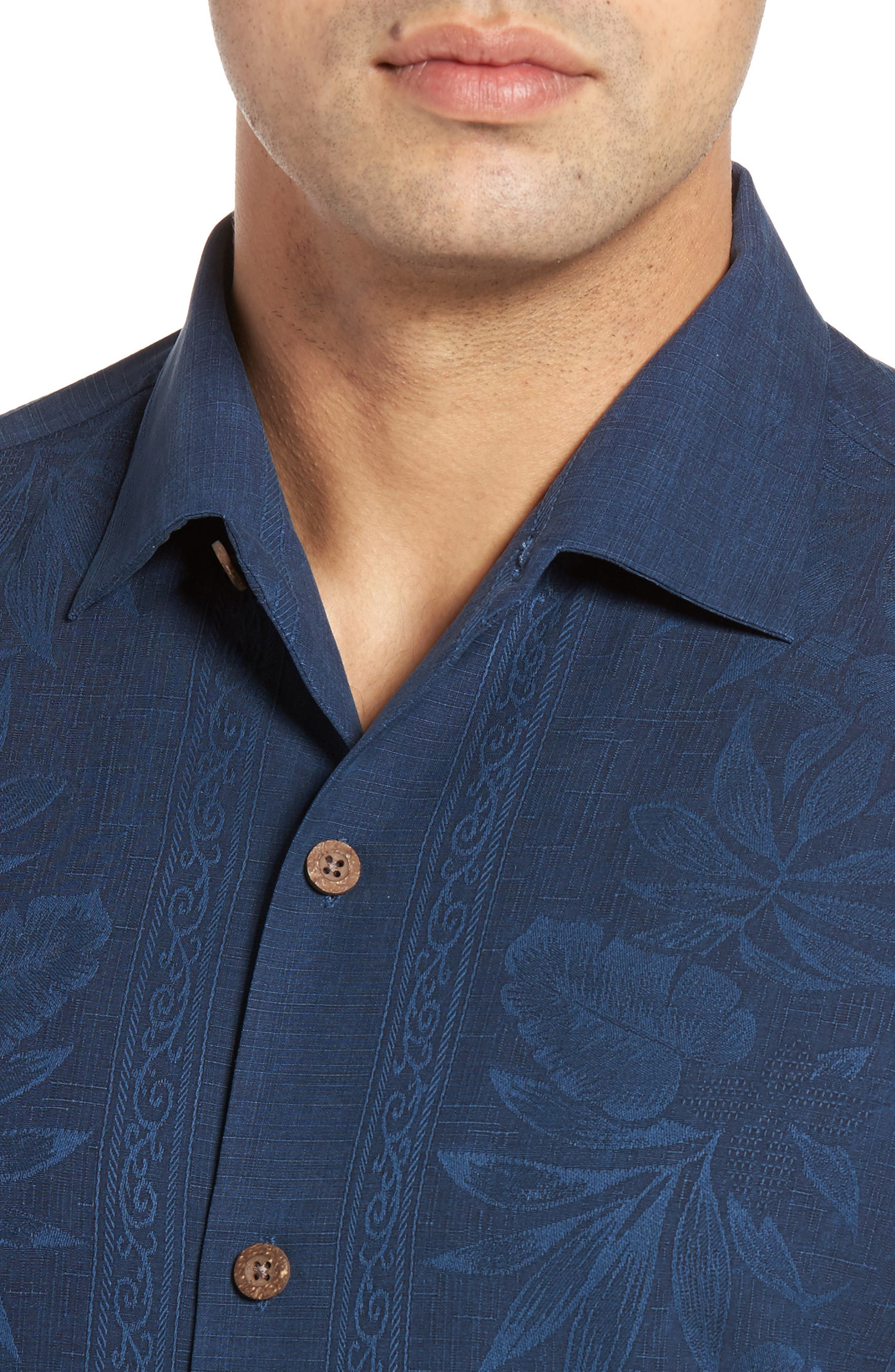 Alternate Image 4  - Tommy Bahama Pacific Standard Fit Floral Silk Camp Shirt