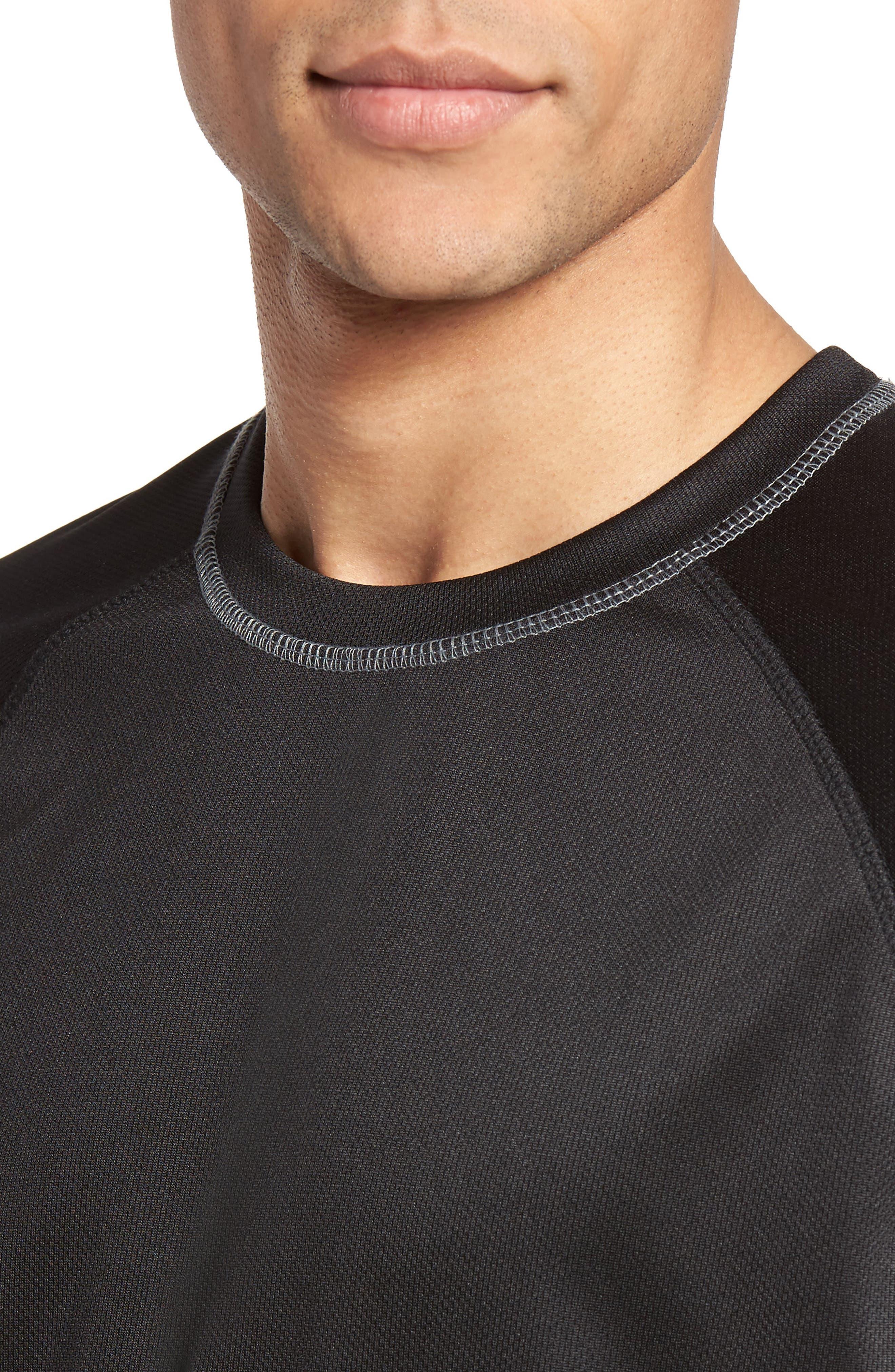 Work Out Crewneck T-Shirt,                             Alternate thumbnail 4, color,                             Black