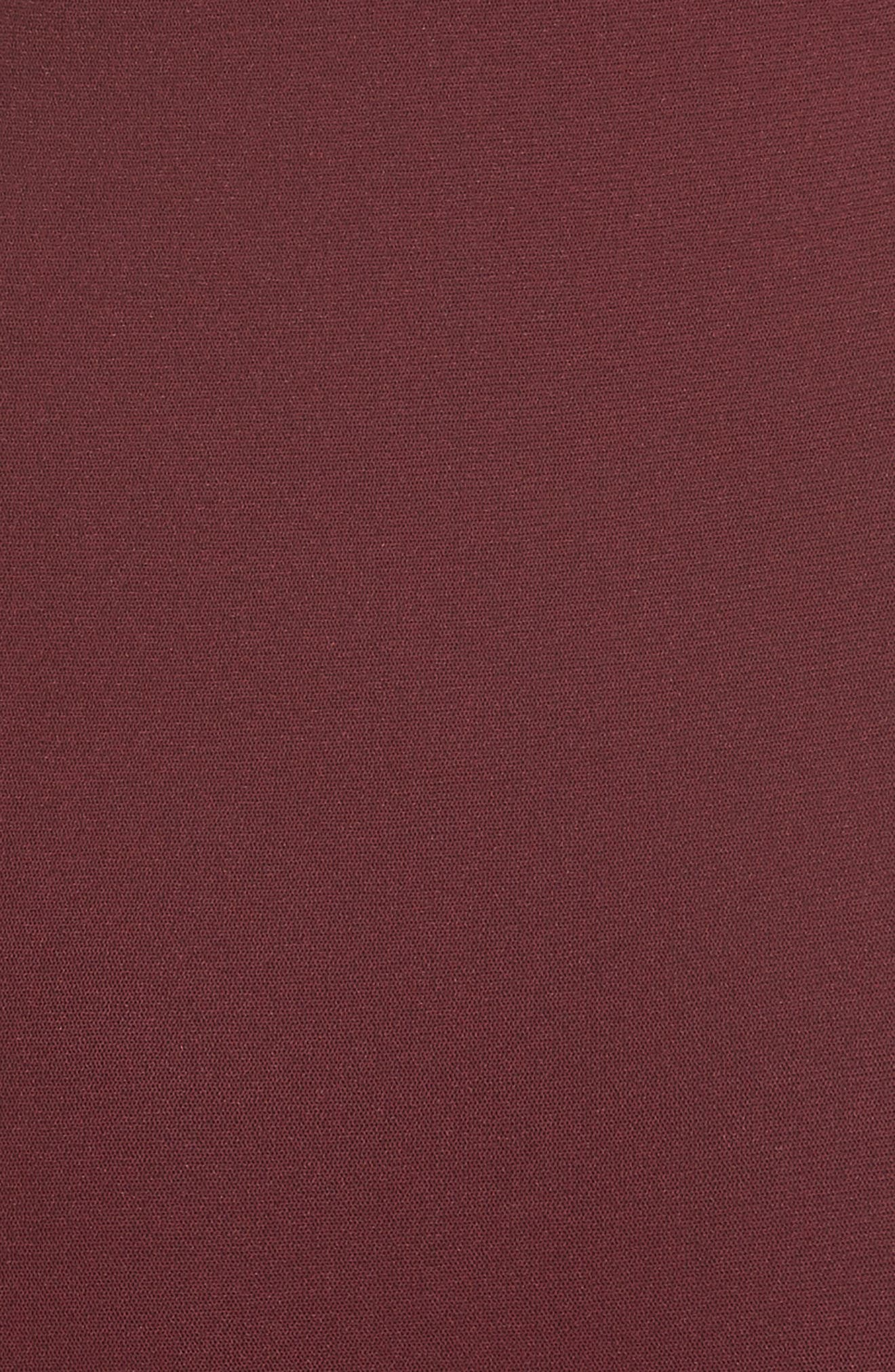 Tulle Off the Shoulder Midi Dress,                             Alternate thumbnail 3, color,                             Plum