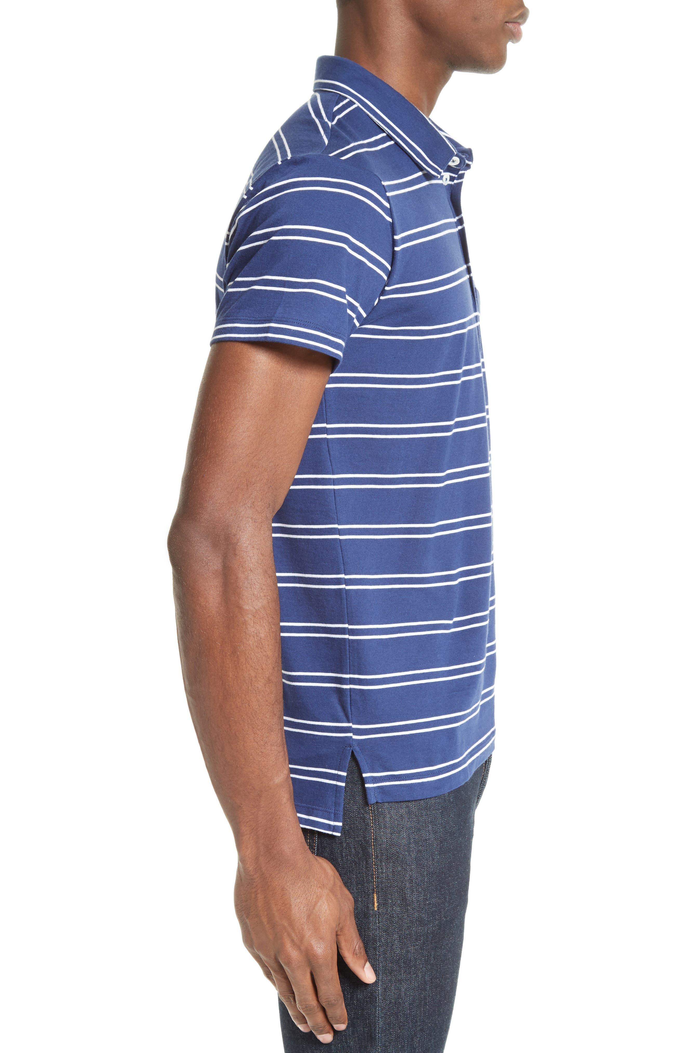 Alternate Image 3  - Todd Snyder Fine Stripe Double Face Polo