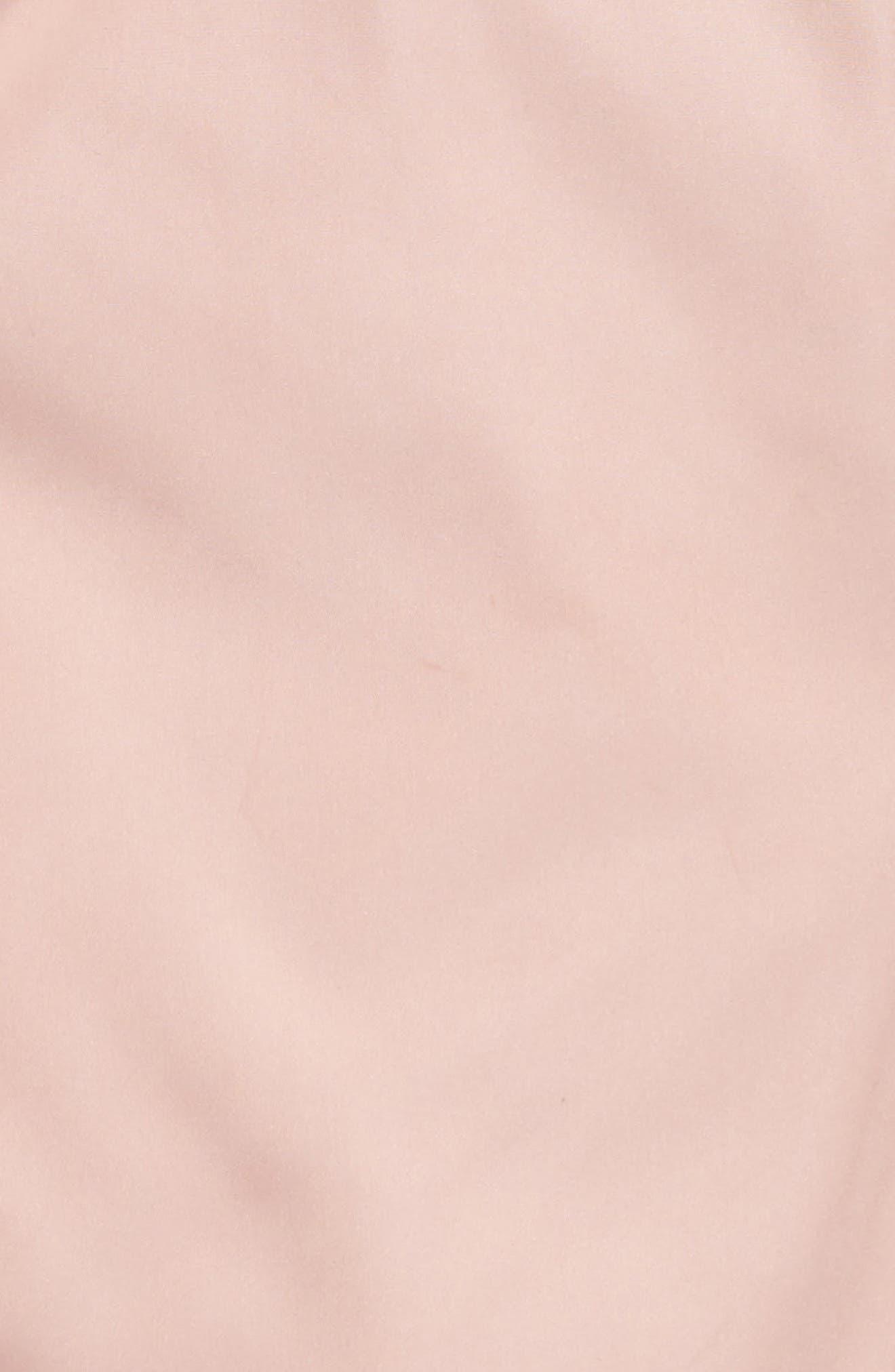 Reversible Faux Fur Bomber Jacket,                             Alternate thumbnail 3, color,                             Pink Zephyr