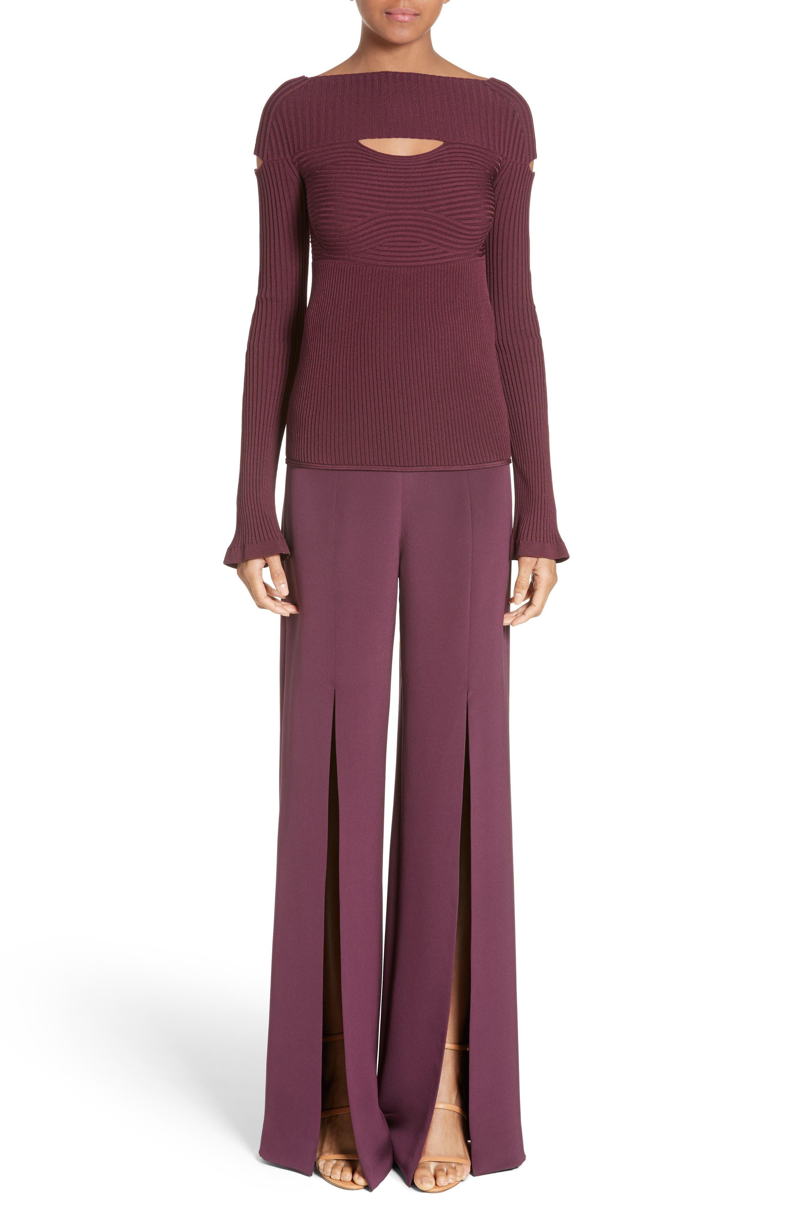 Alternate Image 6  - Cushnie et Ochs Slit Silk High Waisted Pants
