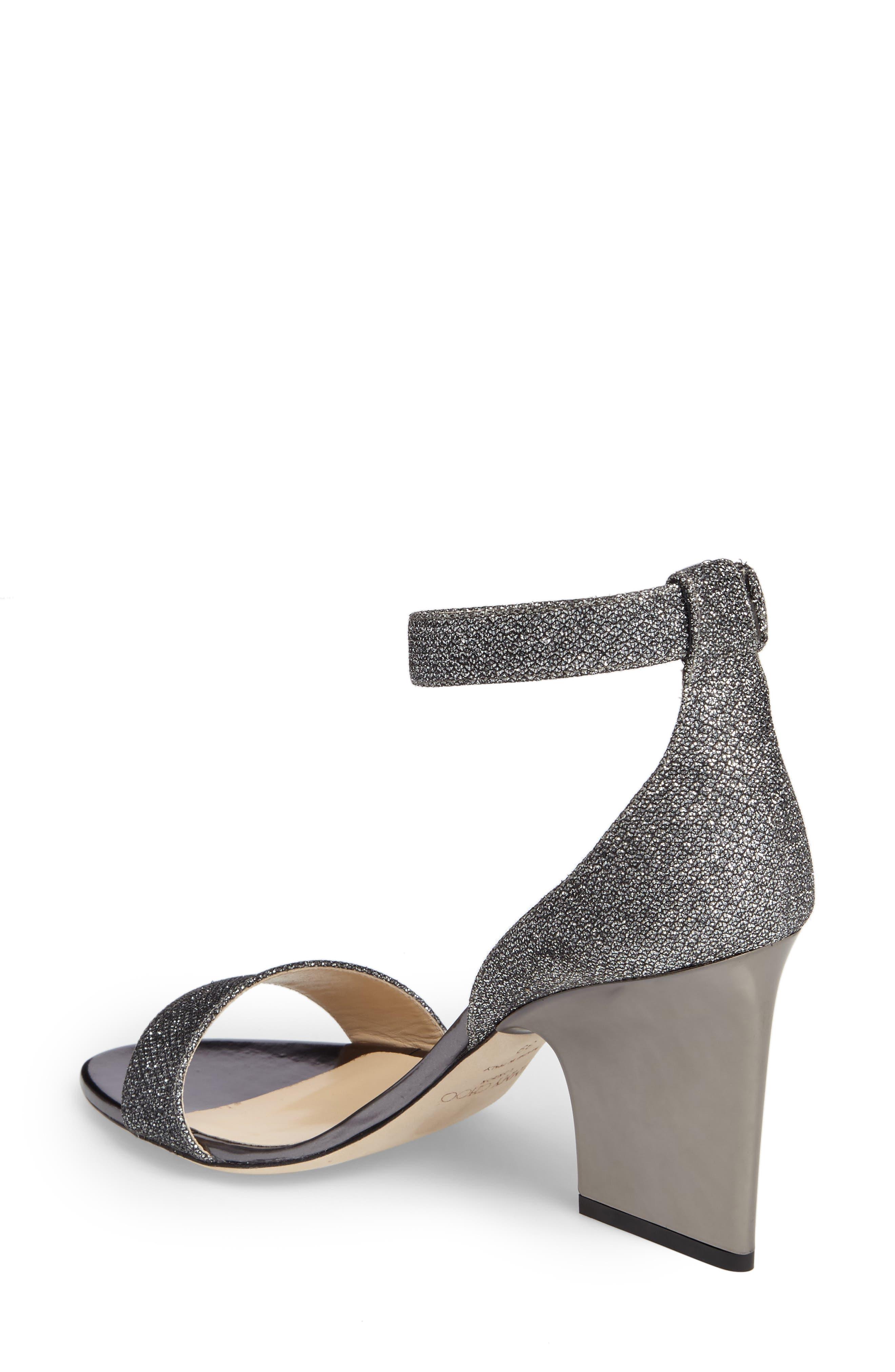 Edina Ankle Strap Sandal,                             Alternate thumbnail 2, color,                             Anthracite