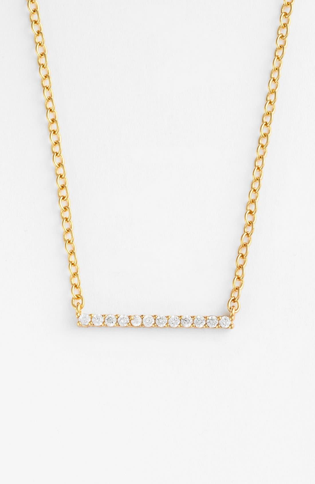 Alternate Image 3  - gorjana 'Knox' Pavé Bar Necklace