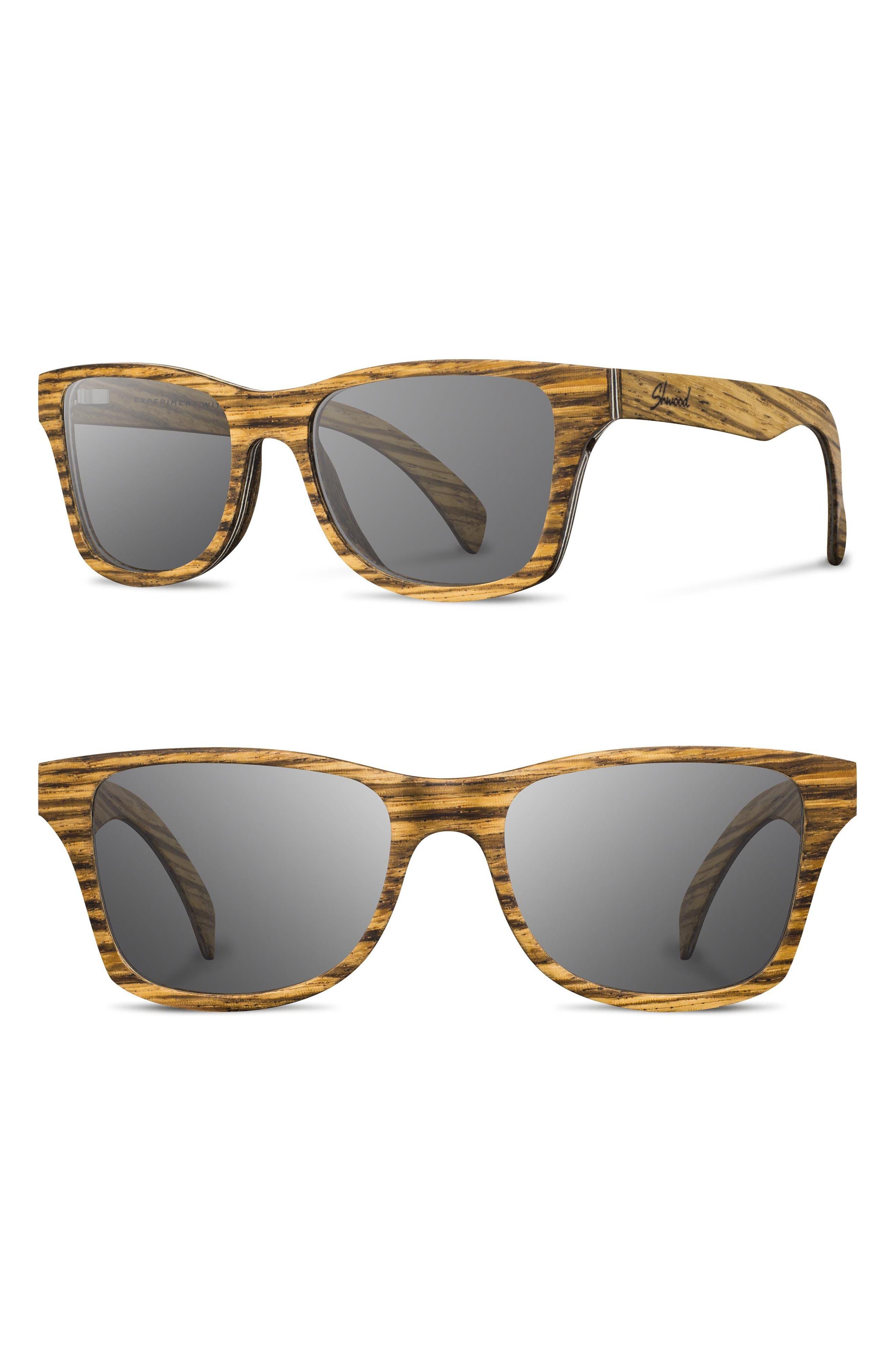 Shwood 'Canby' 54mm Wood Sunglasses