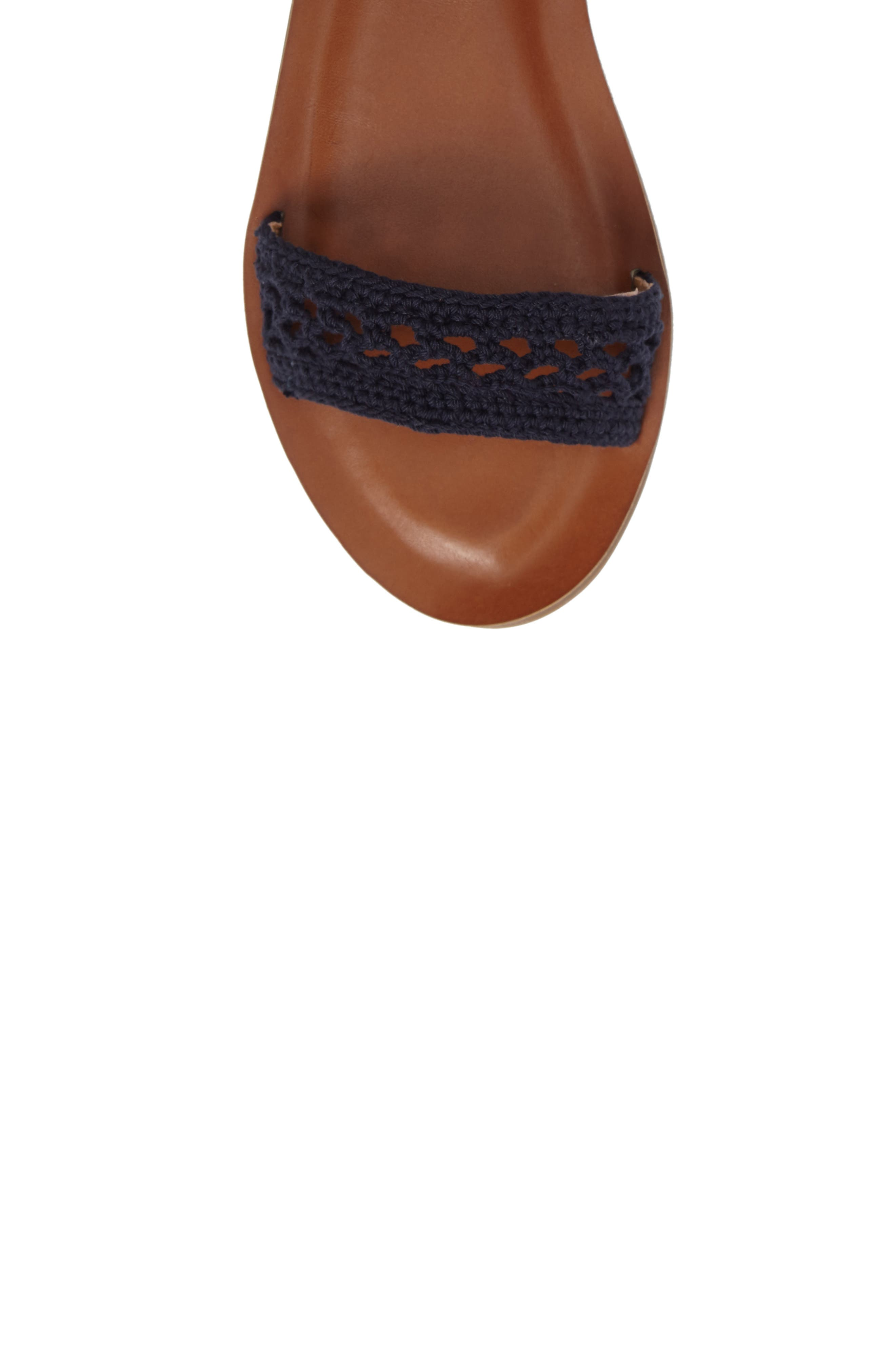 Ariah Ankle Tie Sandal,                             Alternate thumbnail 5, color,                             Moroccan Blue Fabric