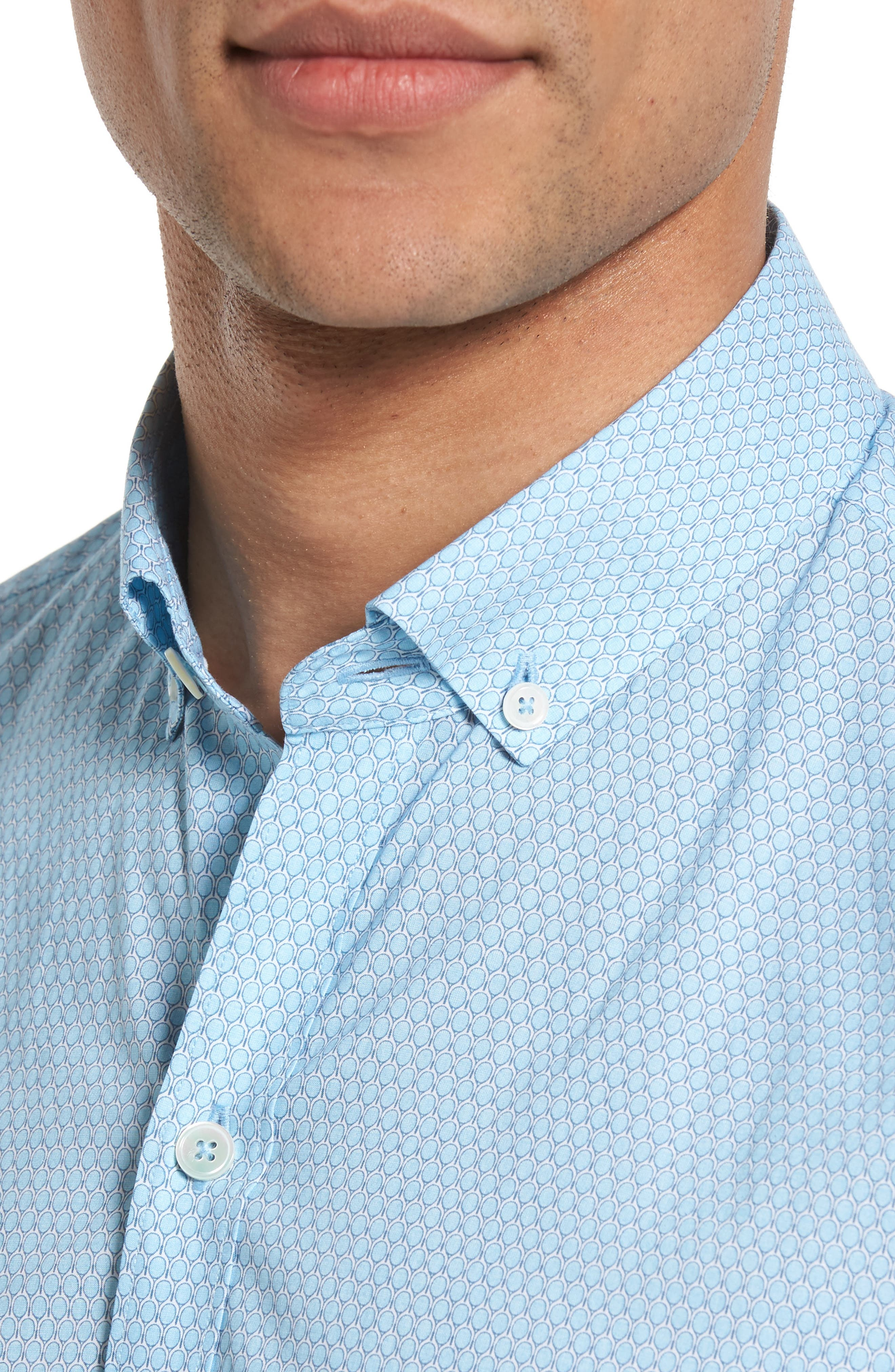 Alternate Image 4  - Zachary Prell Dakotah Trim Fit Print Sport Shirt