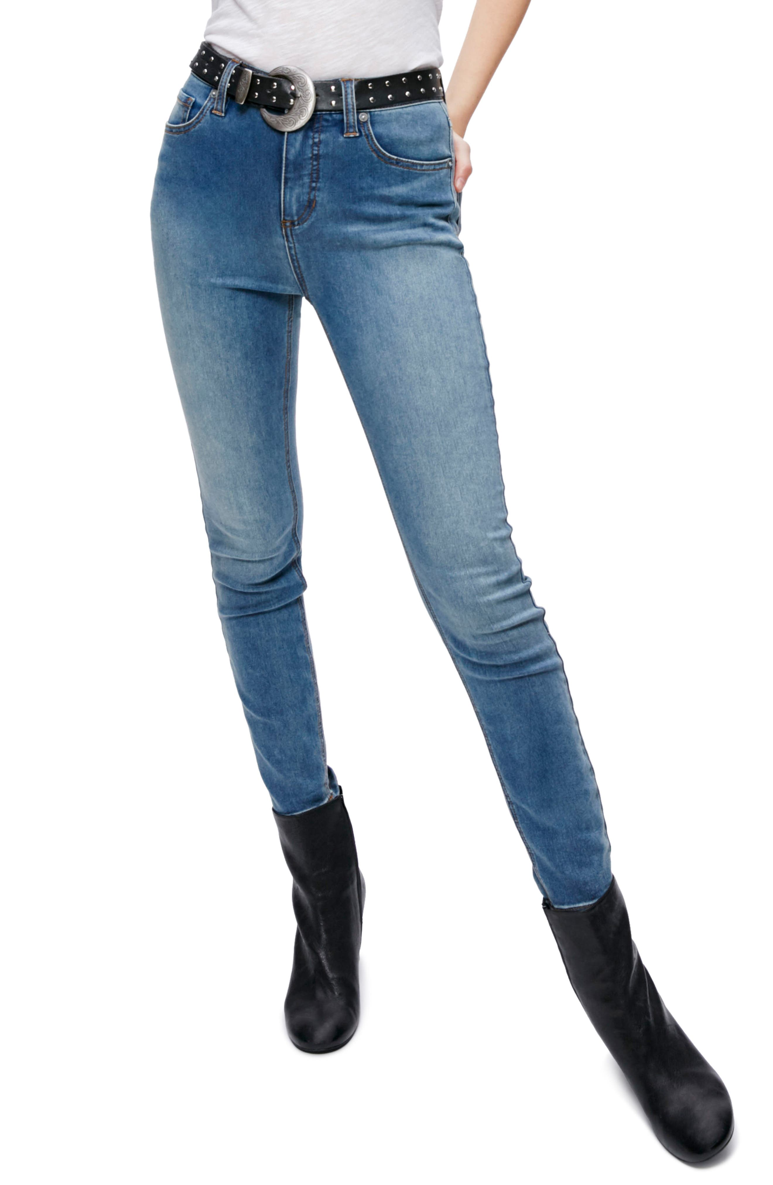 Alternate Image 1 Selected - Free People Gummy High Waist Jeans