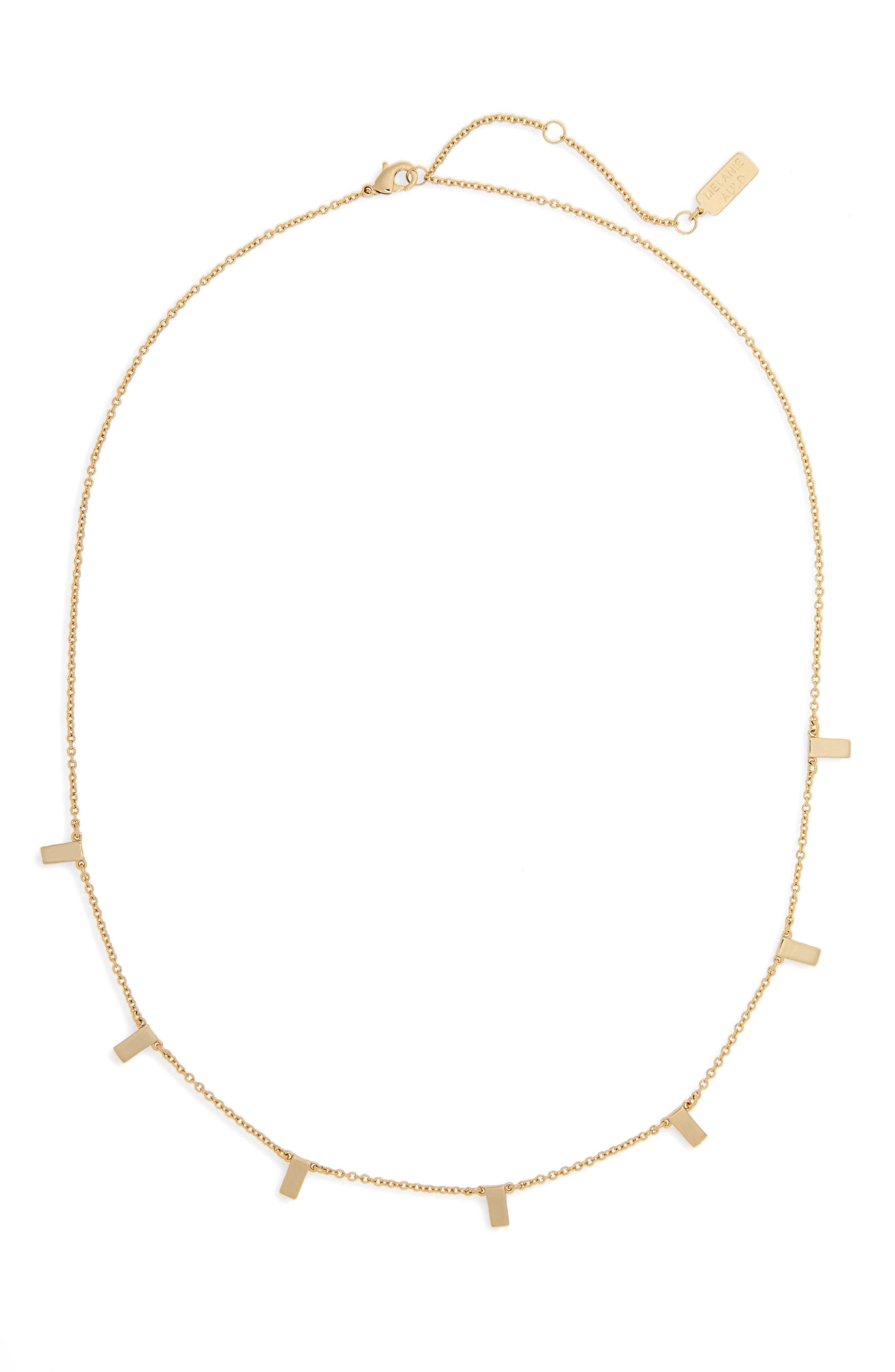 Collar Necklace,                         Main,                         color, Gold