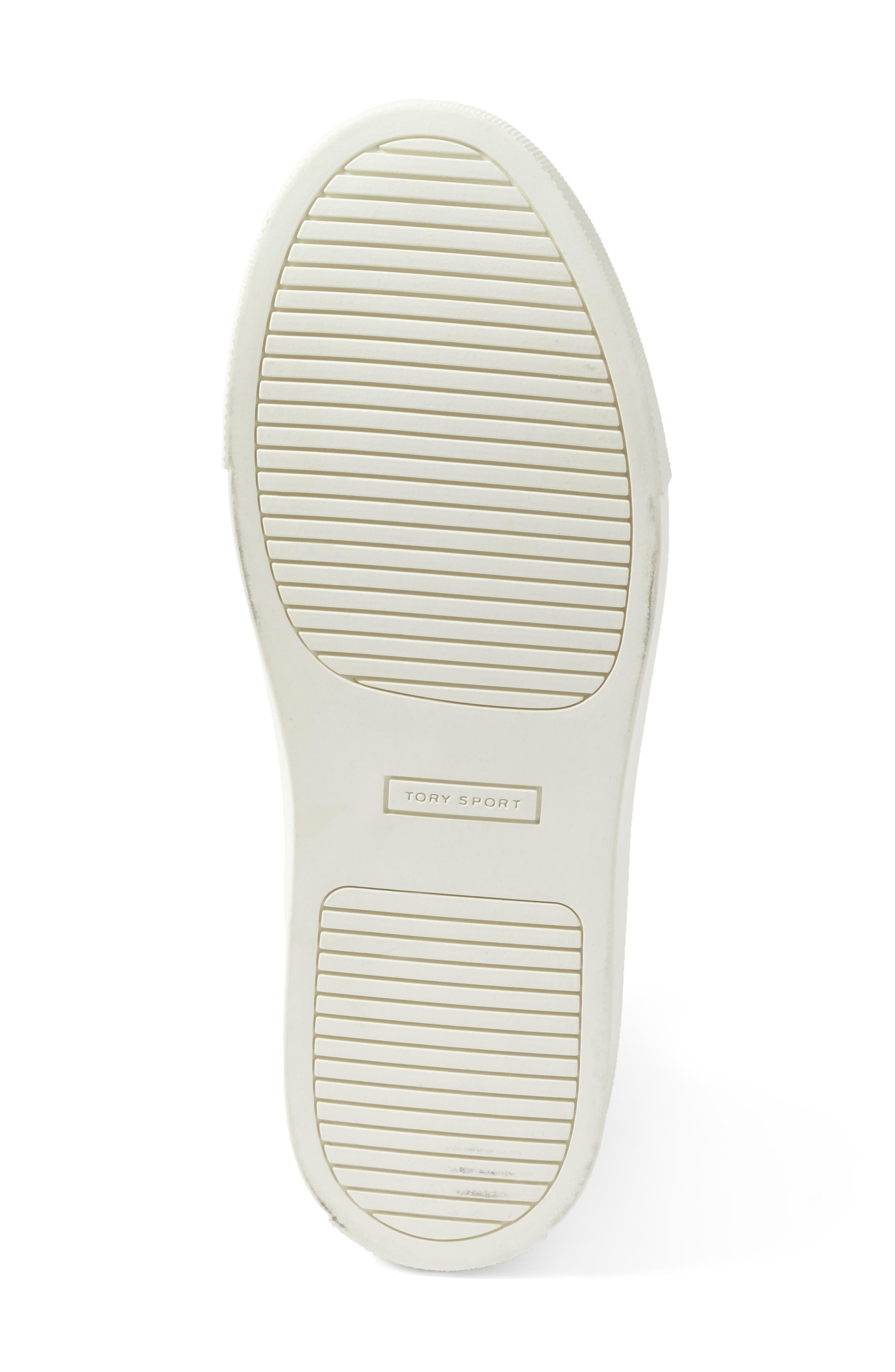 Ruffle Sneaker,                             Alternate thumbnail 6, color,                             Snow White/ Navy Sea