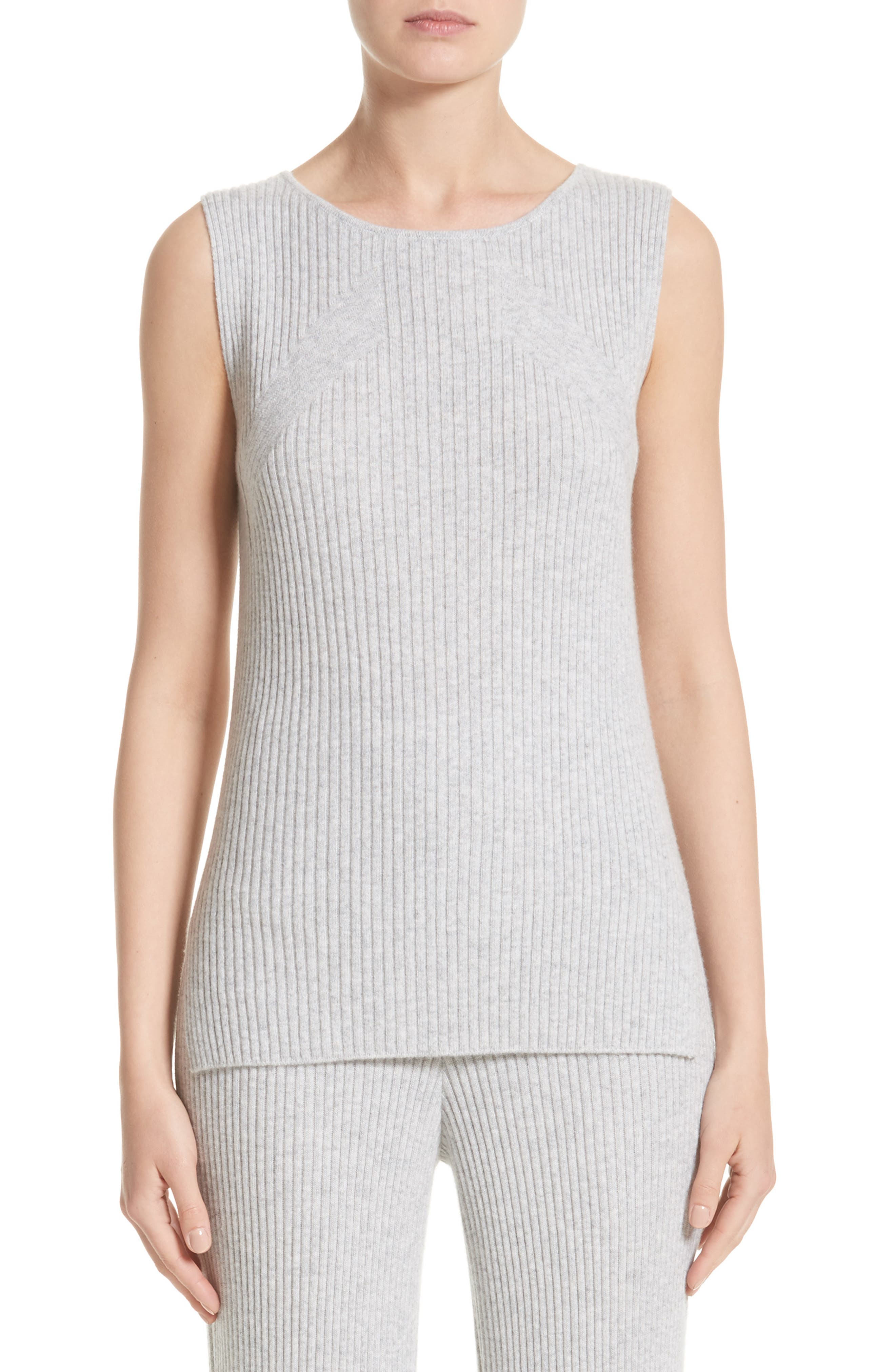 Main Image - St. John Collection Knit Cashmere Shell