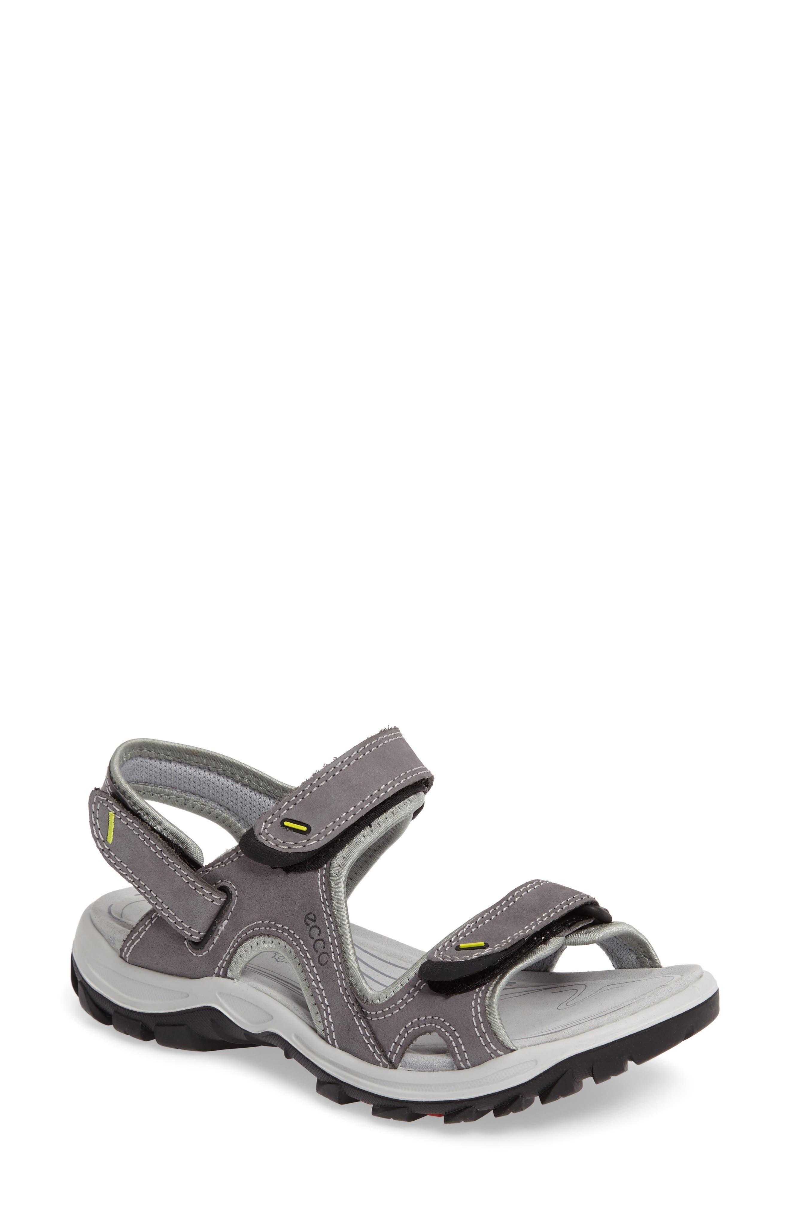 'Offroad' Lightweight Sandal,                             Main thumbnail 1, color,                             Titanium Leather