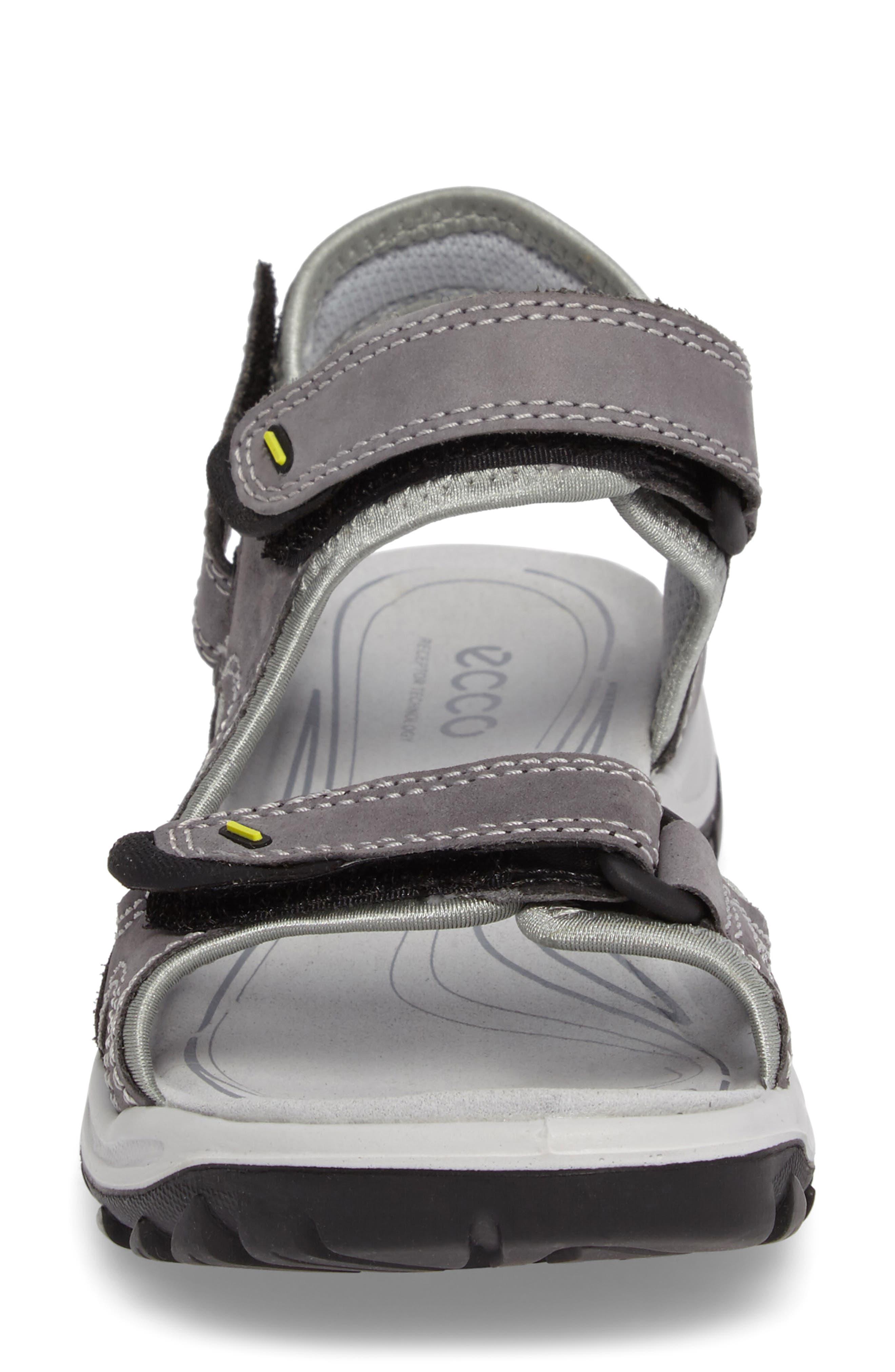 'Offroad' Lightweight Sandal,                             Alternate thumbnail 4, color,                             Titanium Leather