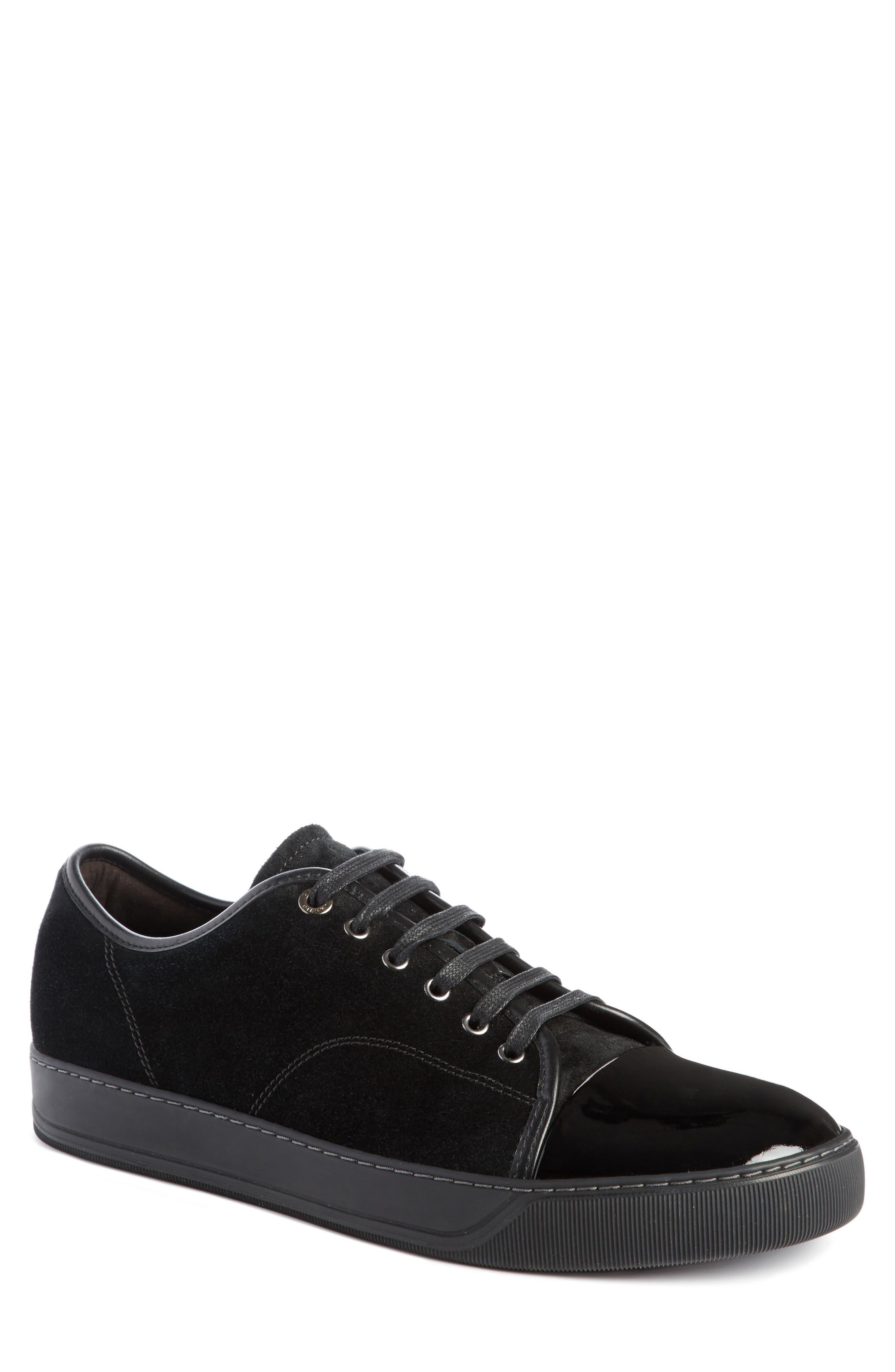 Lanvin Low Top Suede Sneaker (Men)