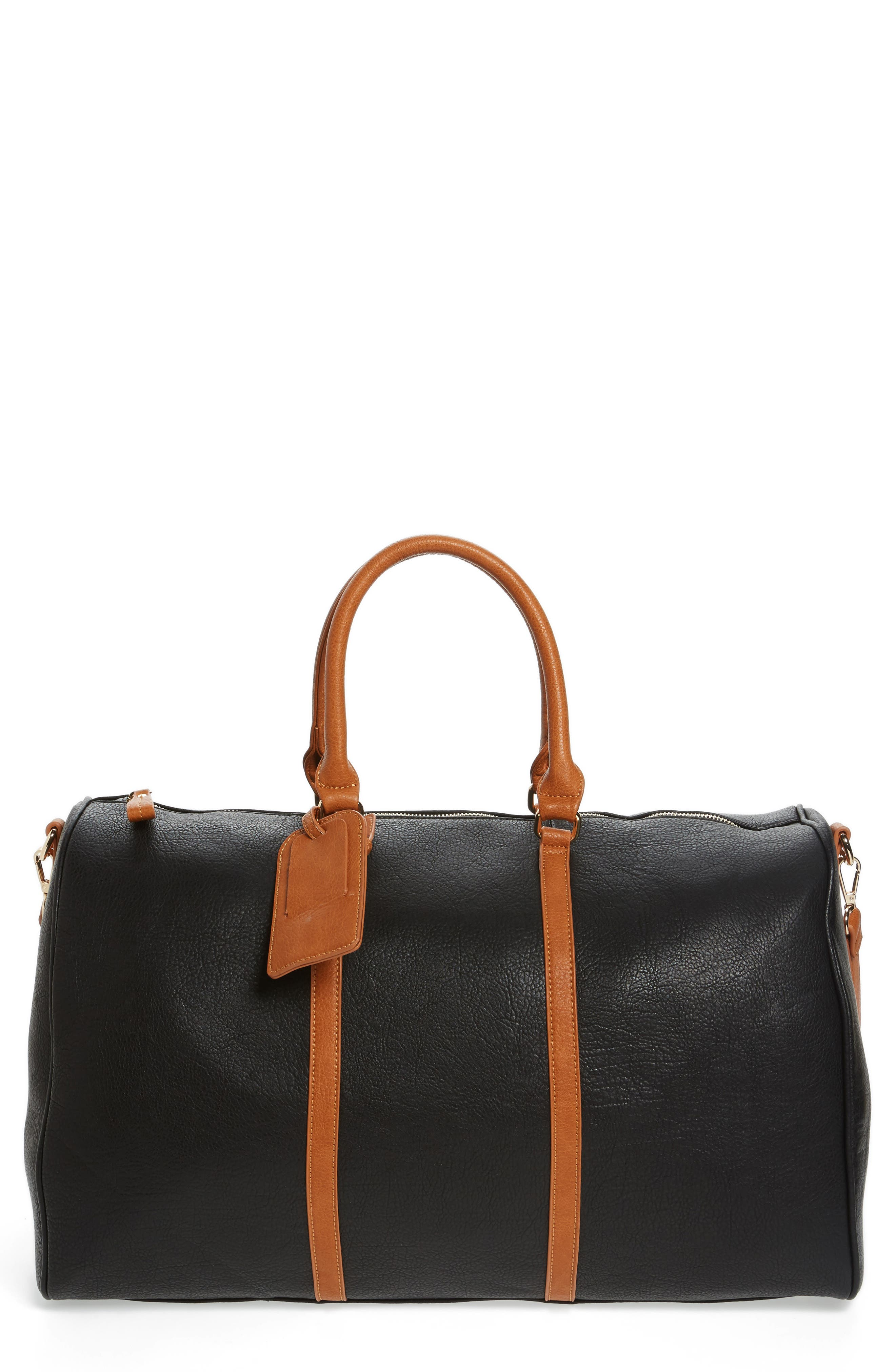 Sole Society 'Lacie' Faux Leather Duffel Bag