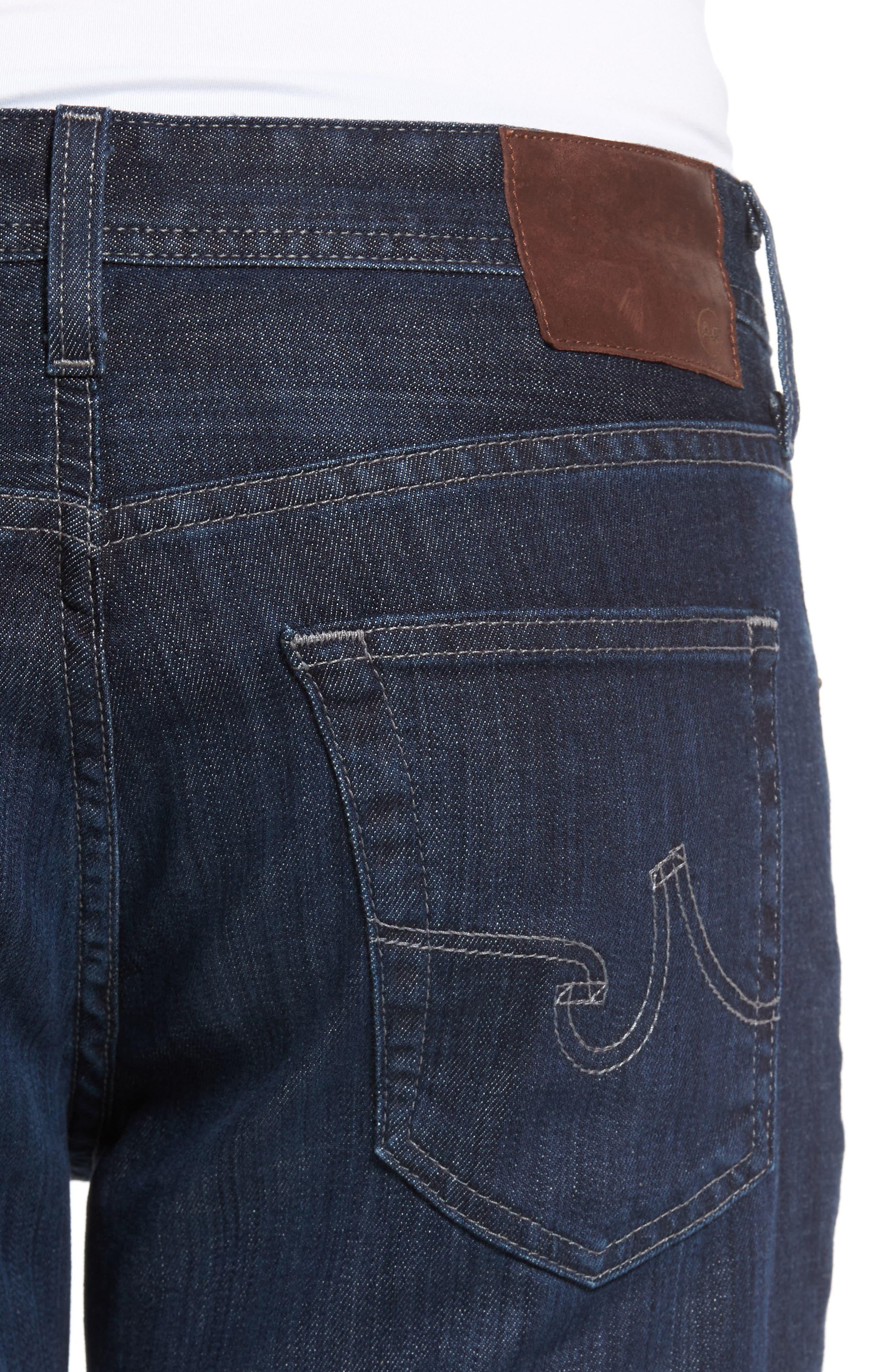 Alternate Image 4  - AG Graduate Slim Straight Leg Jeans (Balcony) (Regular & Tall)