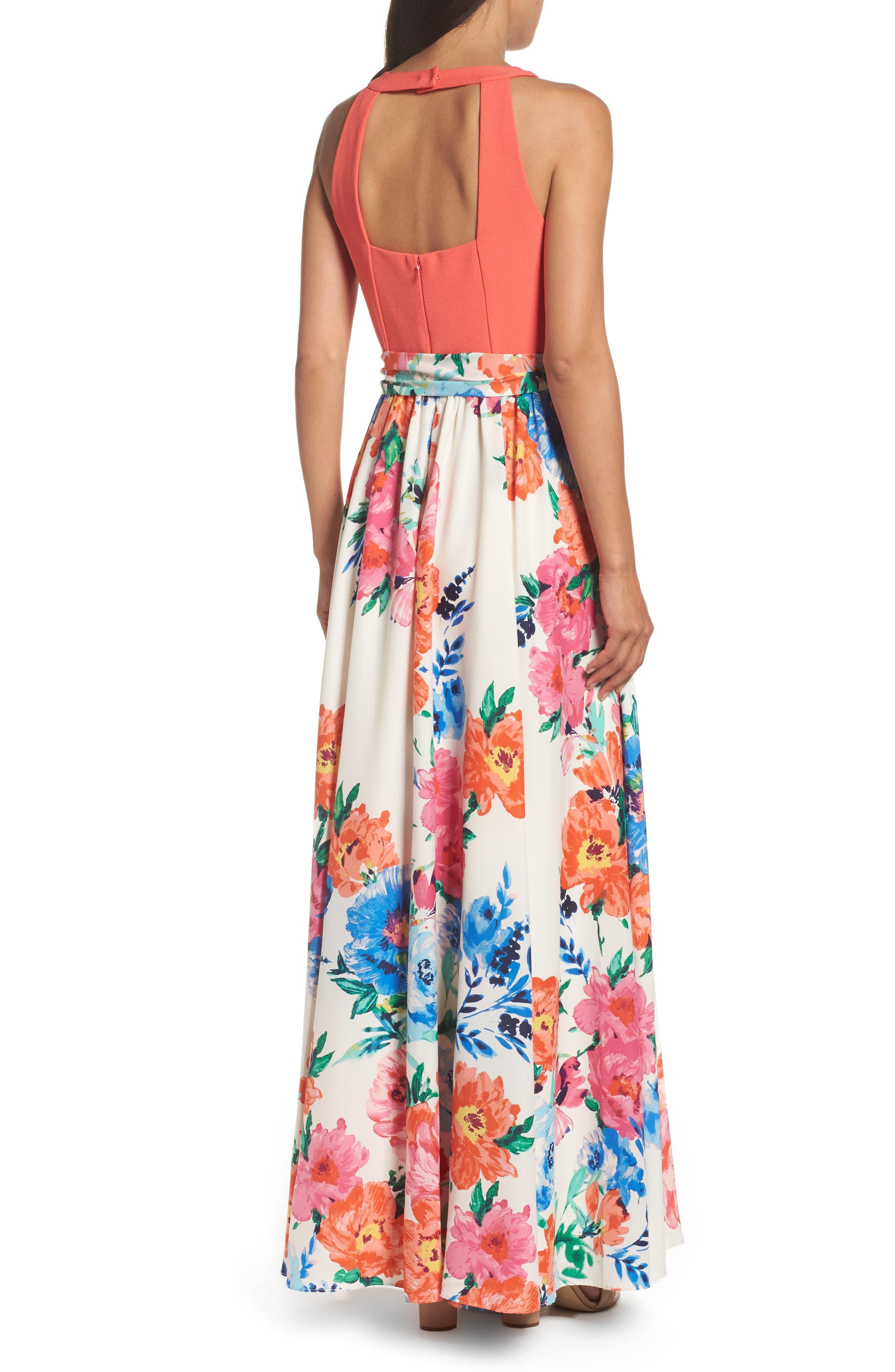 Alternate Image 2  - Eliza J Crepe Maxi Dress