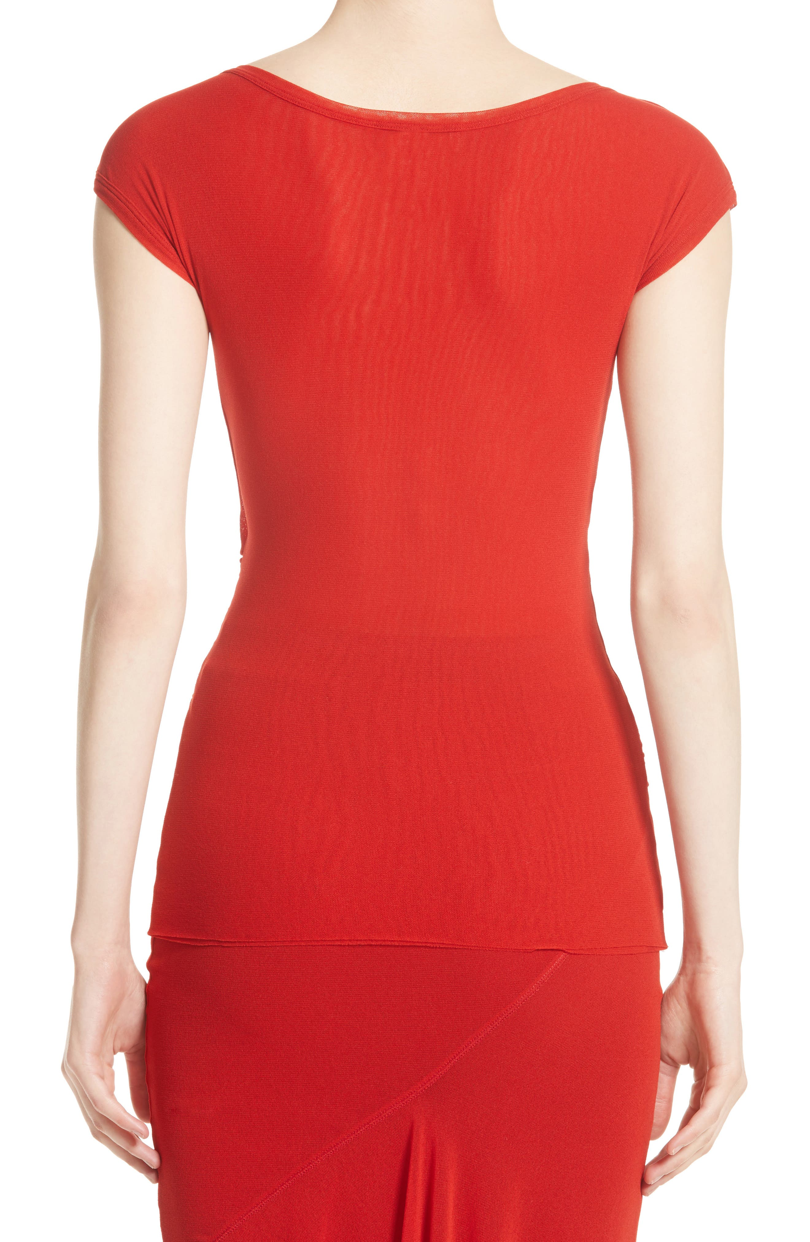 Alternate Image 2  - Fuzzi Ruched Tulle Top