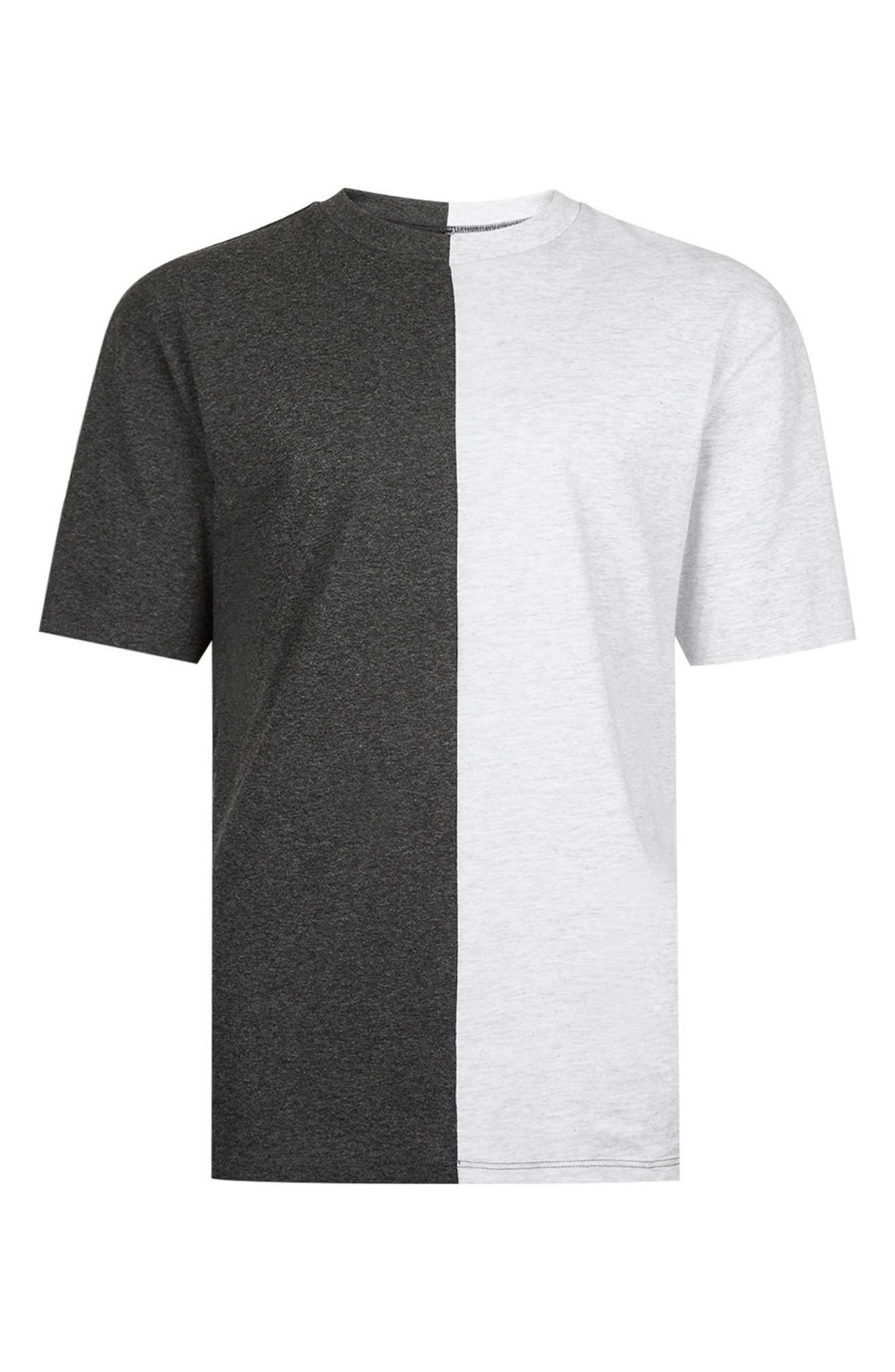 Alternate Image 5  - Topman Splice T-Shirt