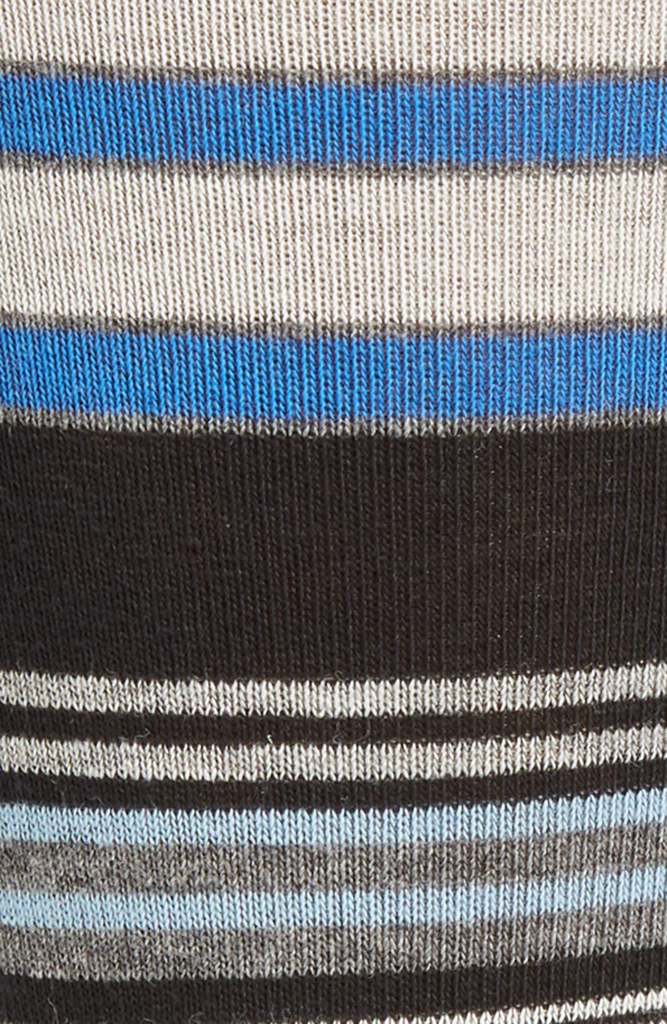 Random Stripe Socks,                             Alternate thumbnail 2, color,                             Black