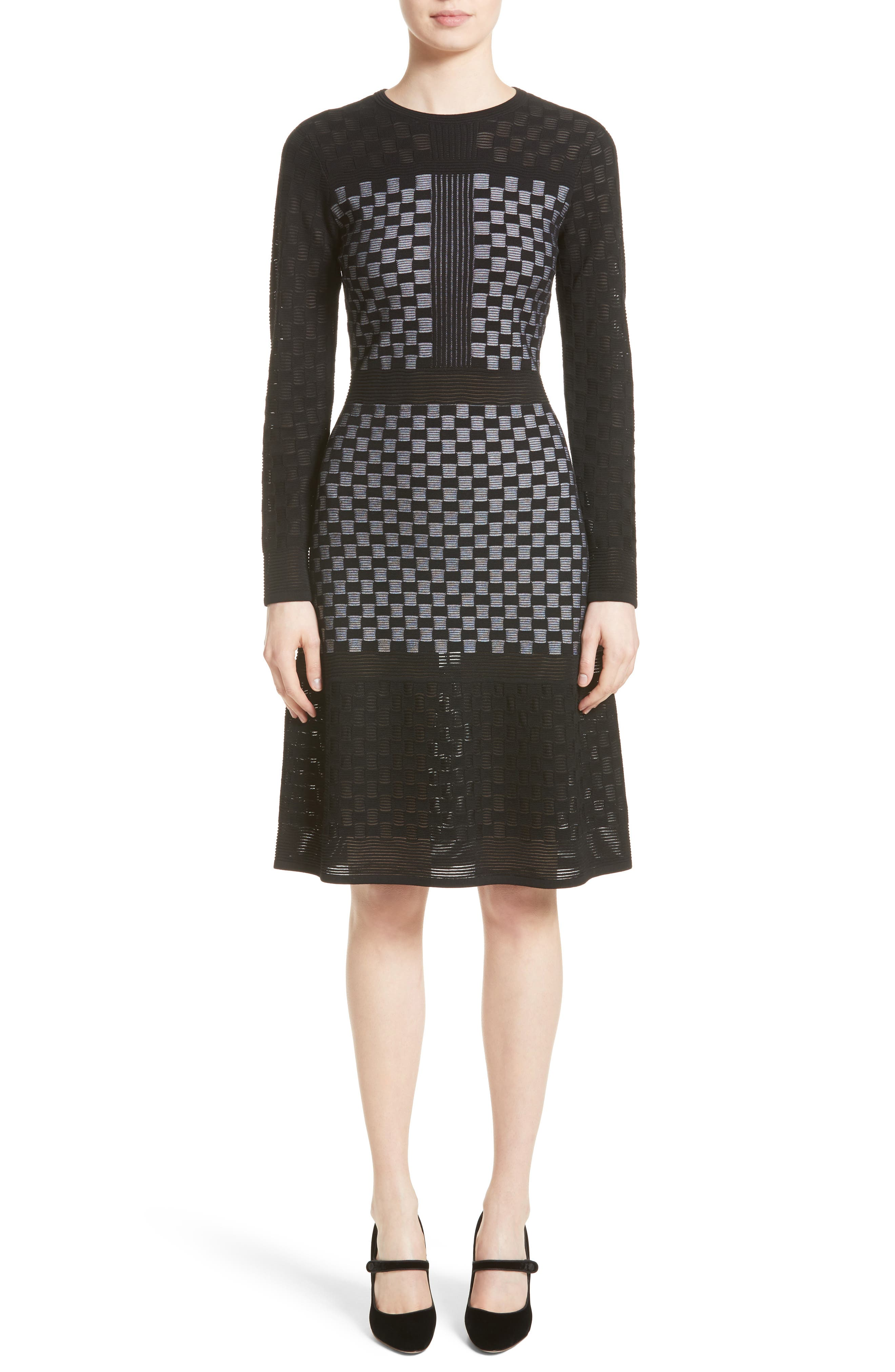 St. John Collection Illusion Checkerboard Dress