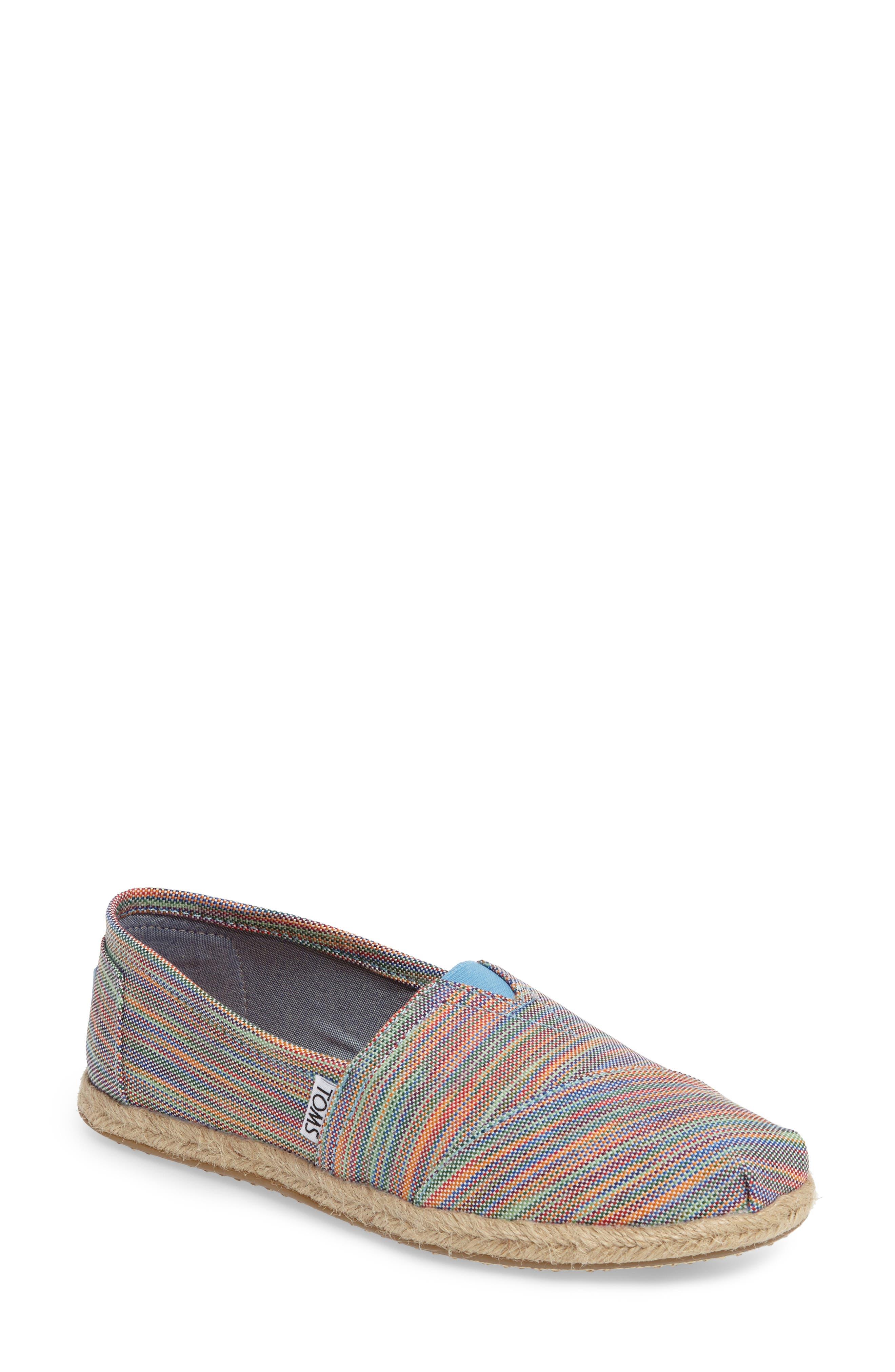 Alpargata Slip-On,                         Main,                         color, Blue Stripe