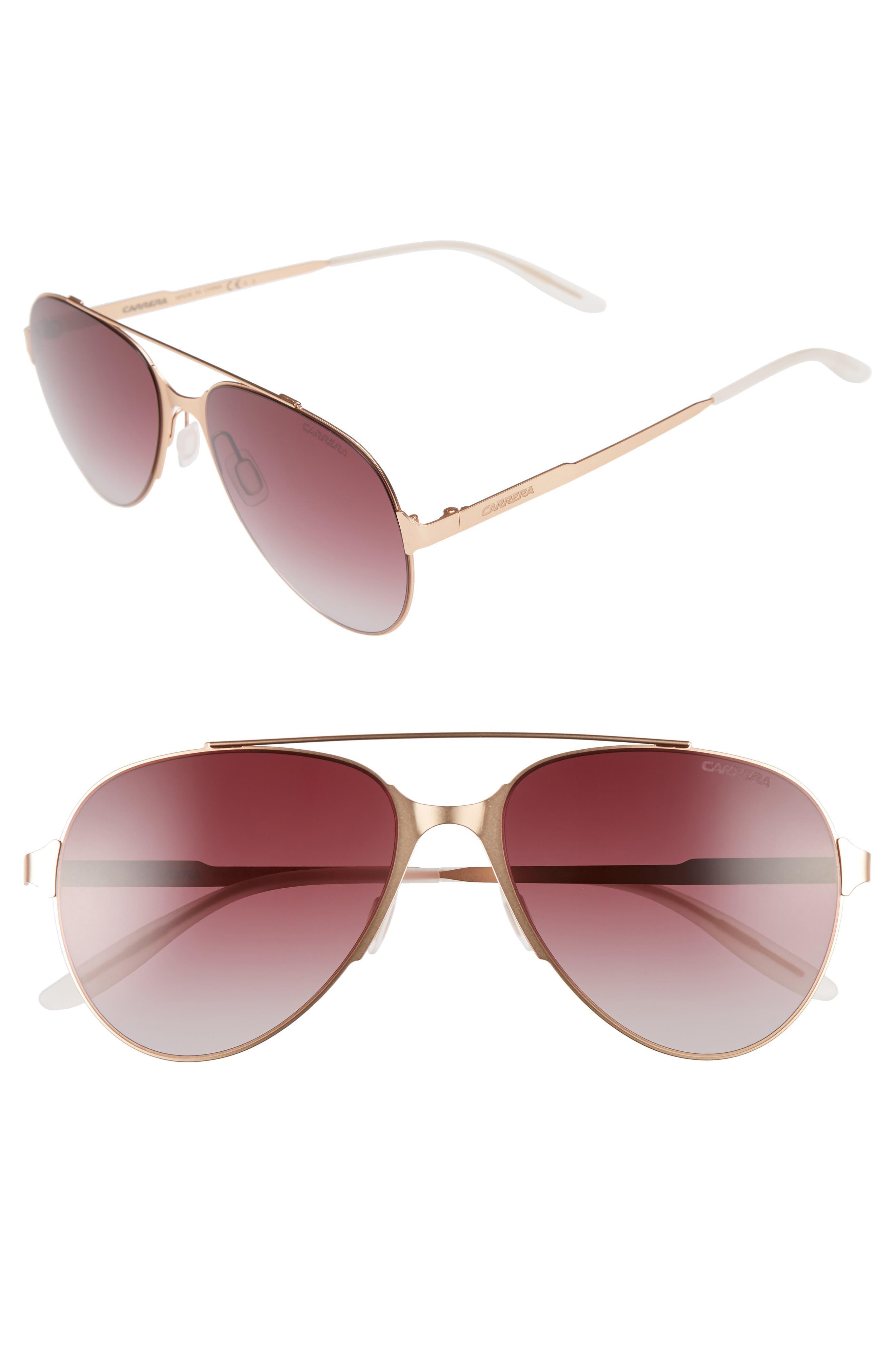 55mm Aviator Sunglasses,                         Main,                         color, Copper/ Gold
