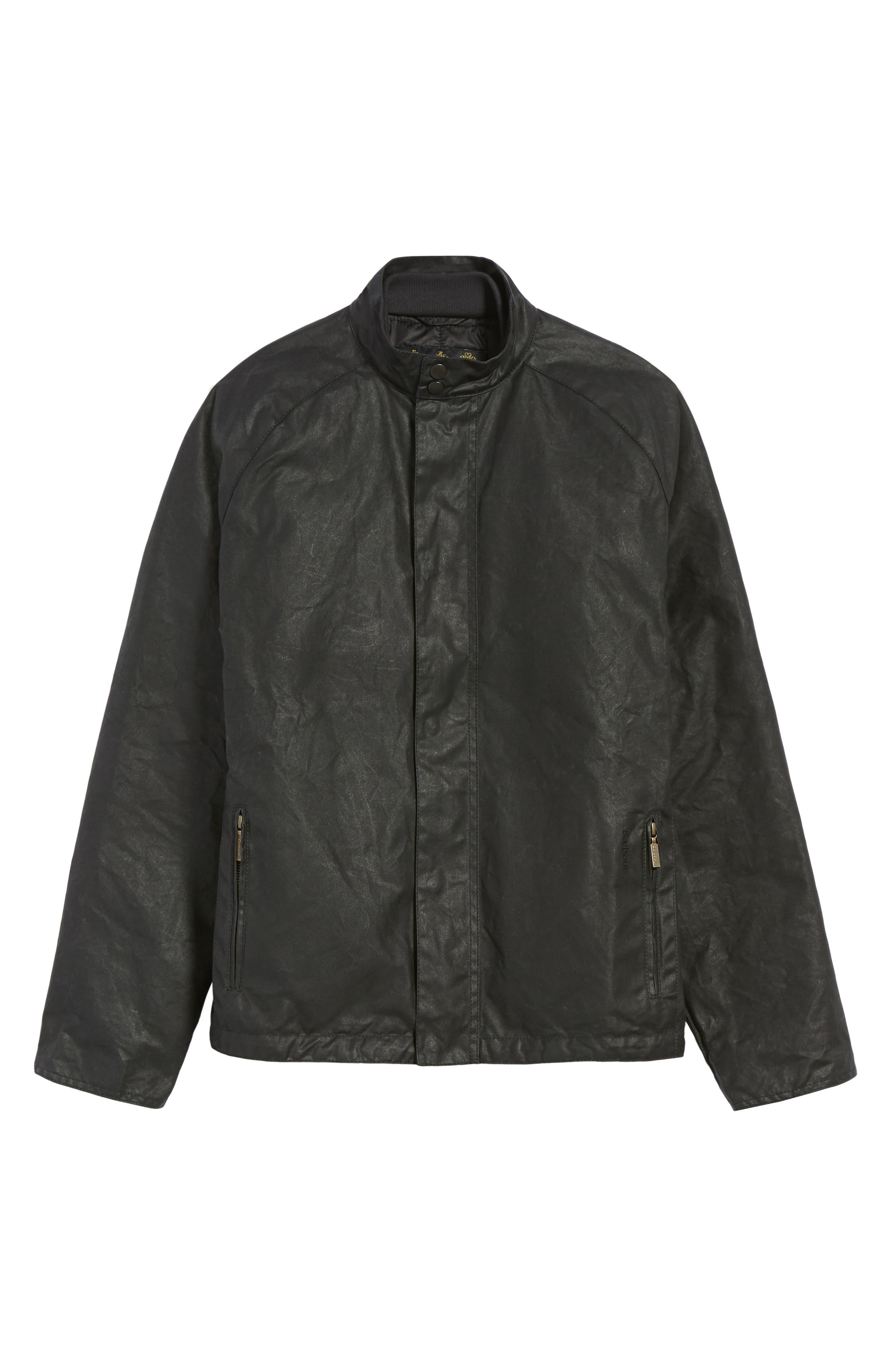 Chrome Slim Fit Water Repellent Jacket,                             Alternate thumbnail 6, color,                             Black