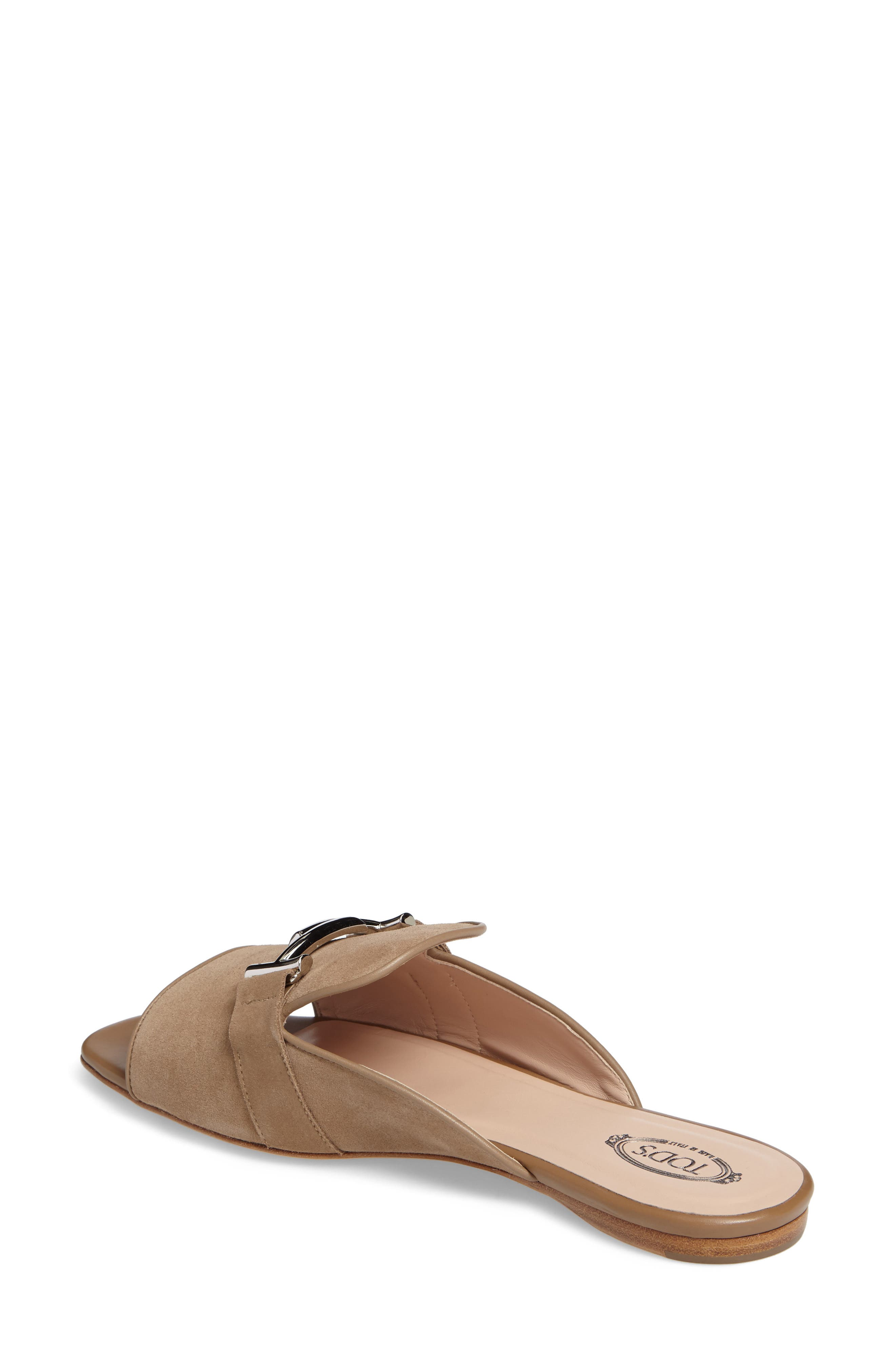 Double T Open Toe Loafer Mule,                             Alternate thumbnail 2, color,                             Tan