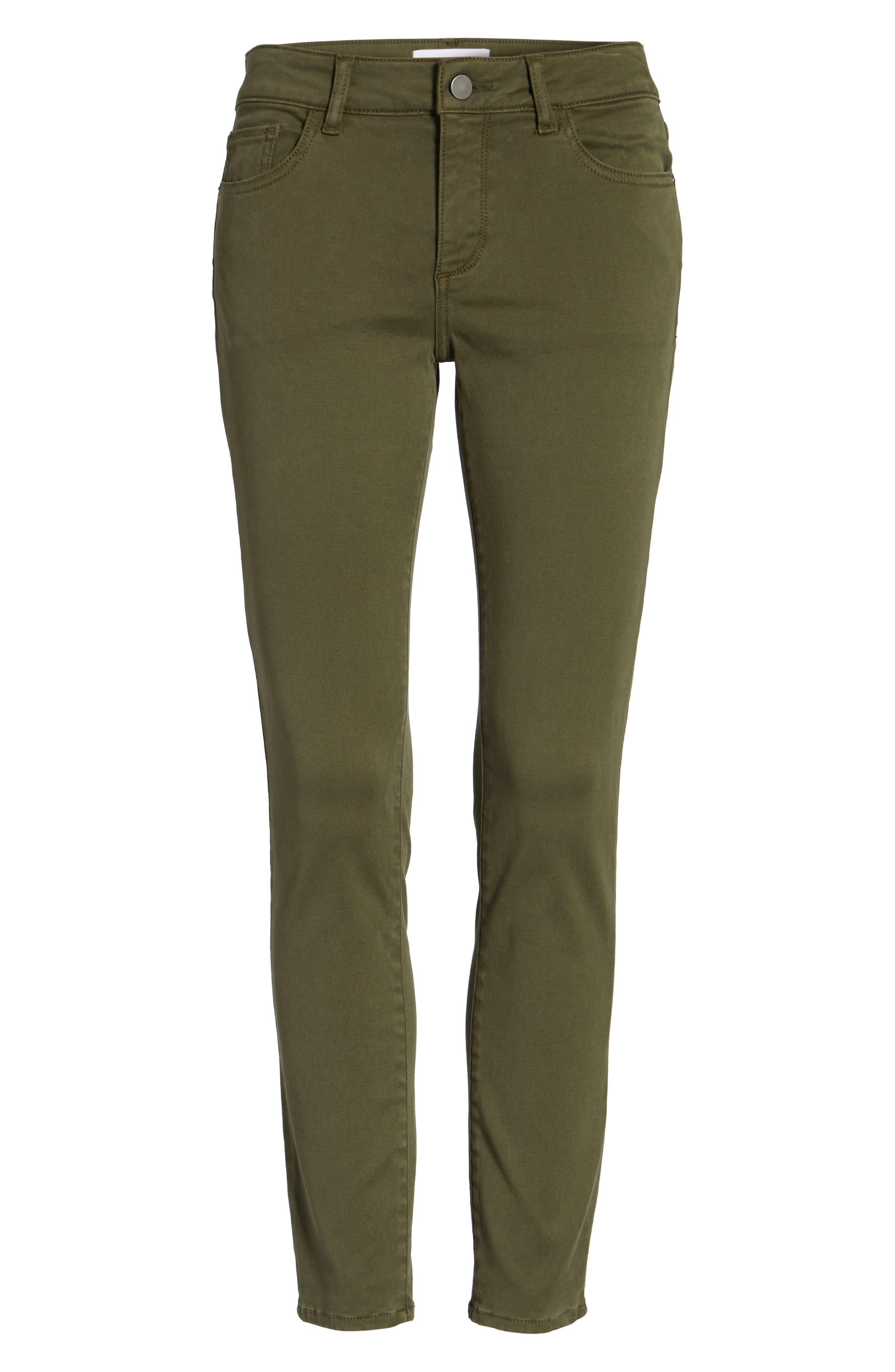 Alternate Image 6  - DL1961 Margaux Instasculpt Ankle Skinny Jeans (Clover)