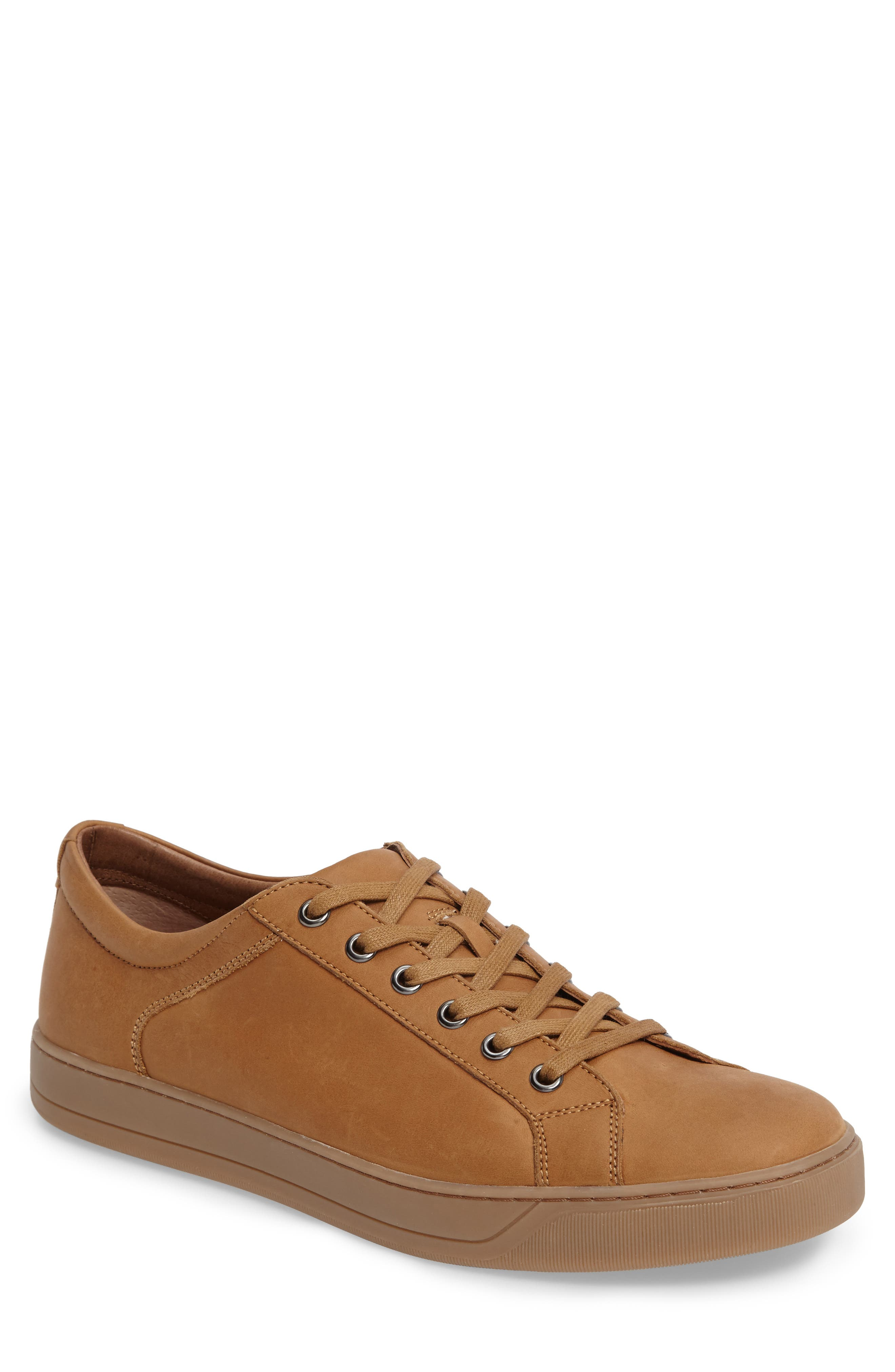 Allister Sneaker,                         Main,                         color, Natural Leather