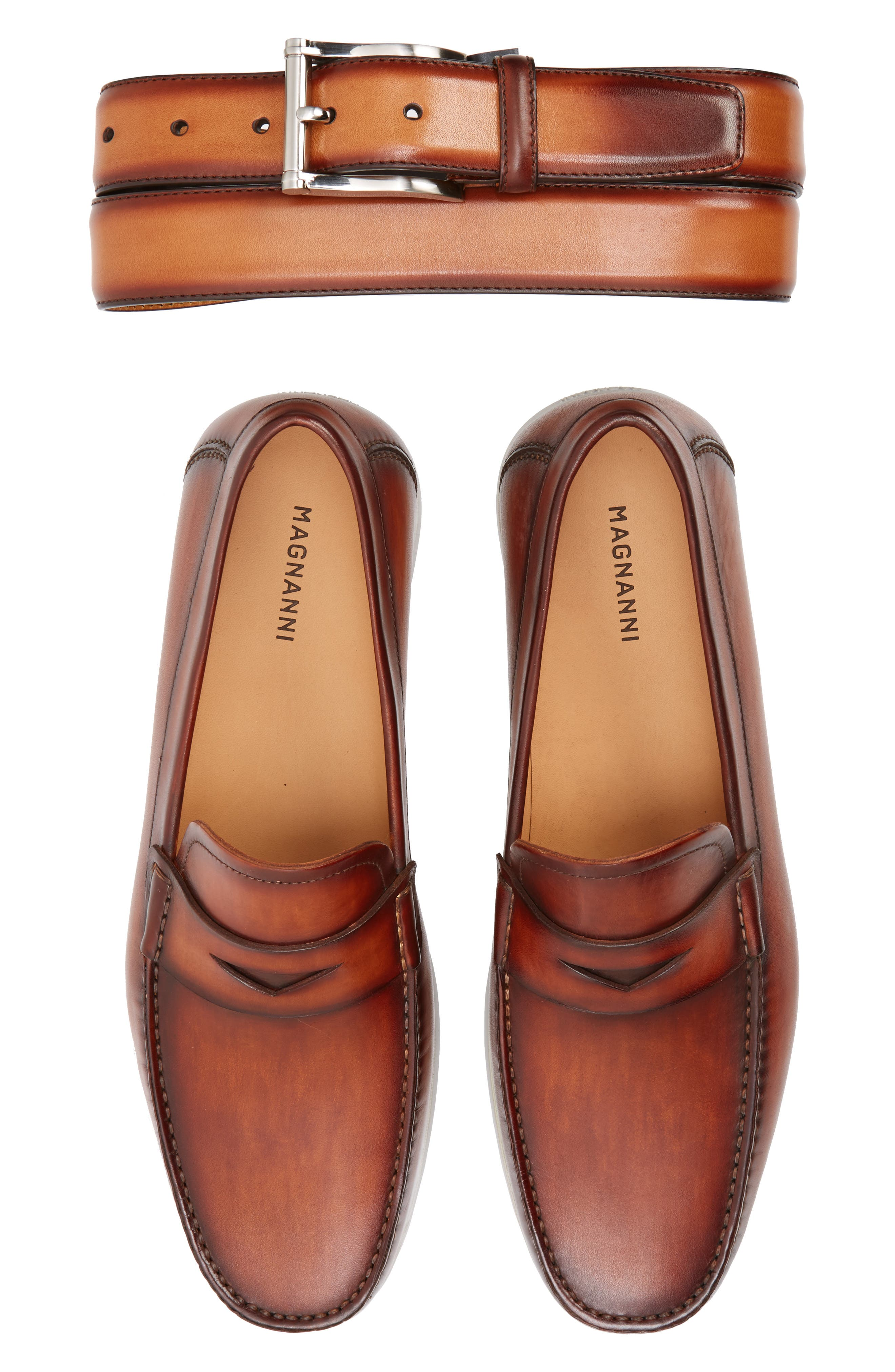 Laguna Penny Loafer,                             Alternate thumbnail 7, color,                             Mid-Brown Leather