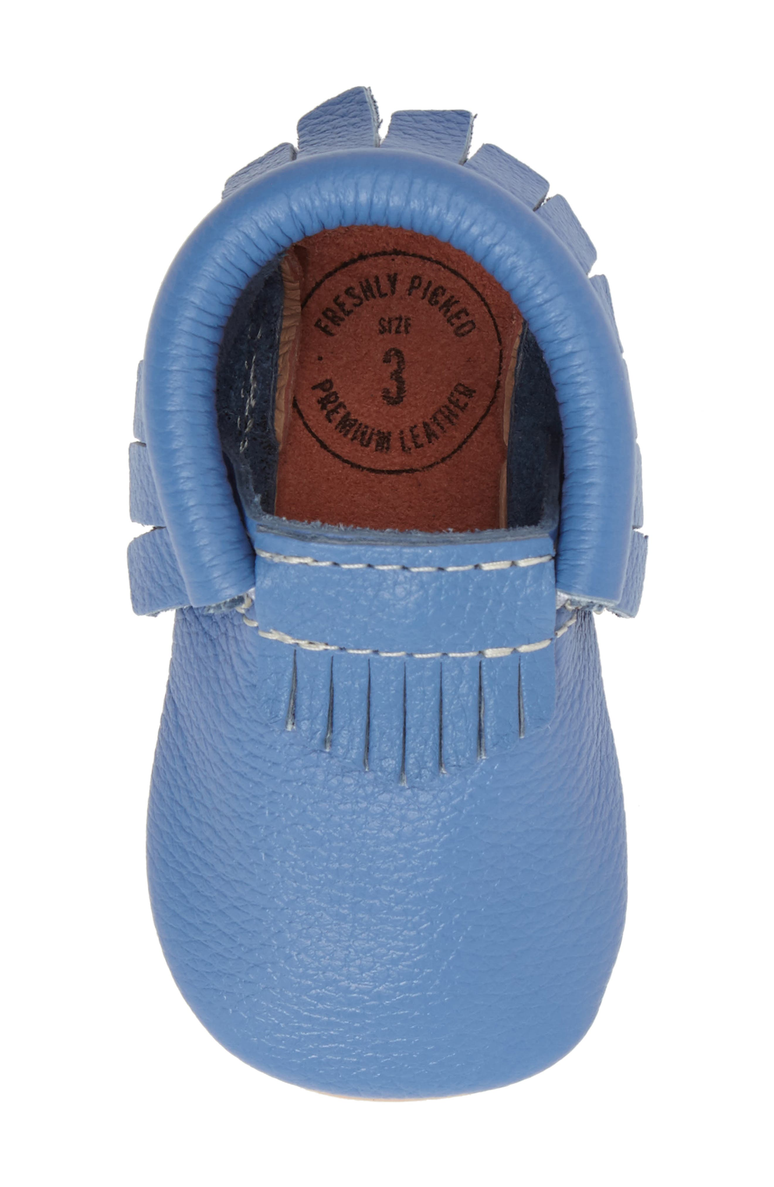 Moccasin,                             Alternate thumbnail 5, color,                             Blue Leather