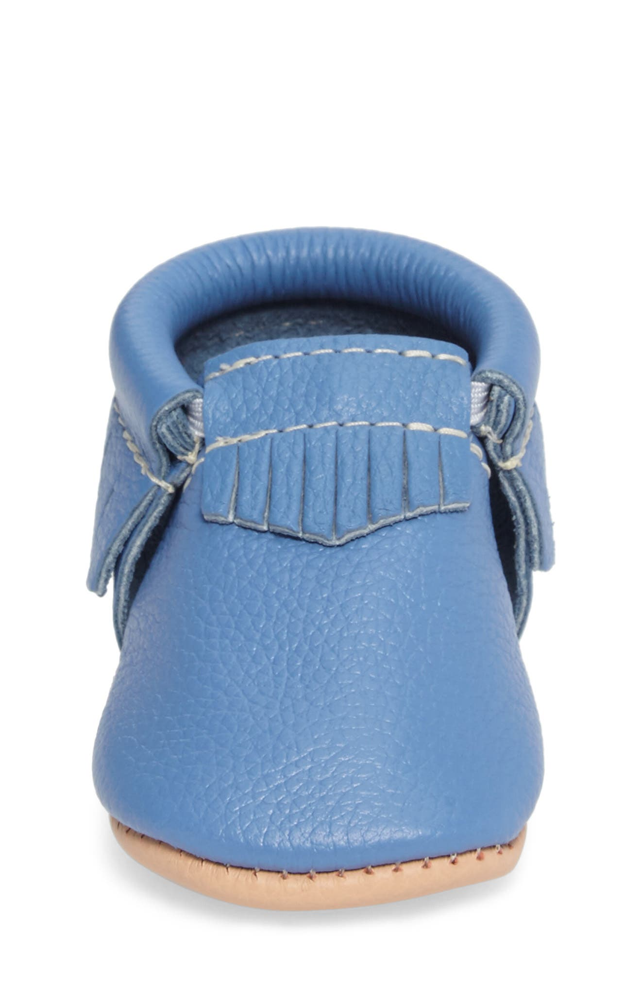 Moccasin,                             Alternate thumbnail 4, color,                             Blue Leather