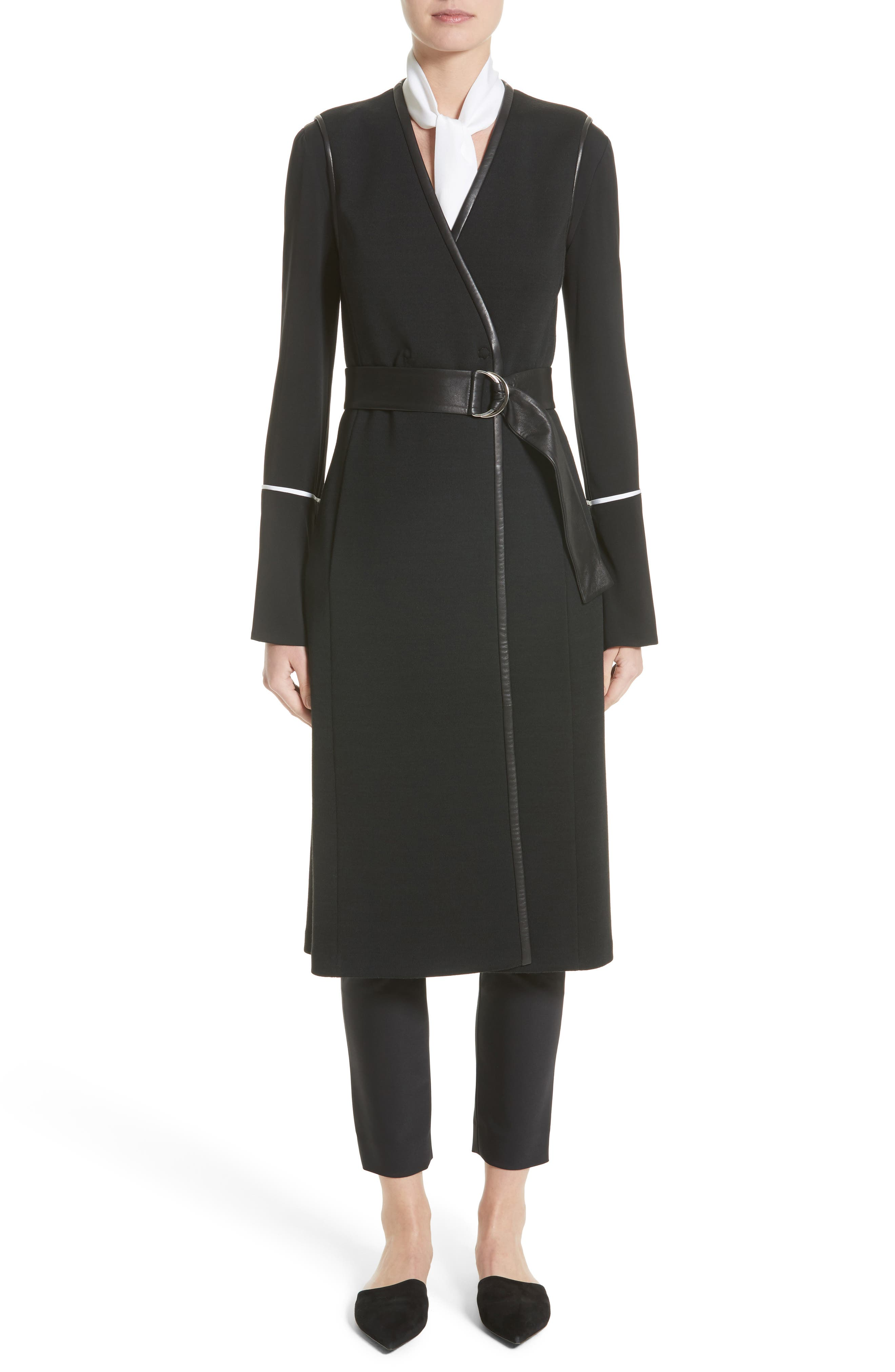 Main Image - St. John Collection Milano Knit A-Line Vest