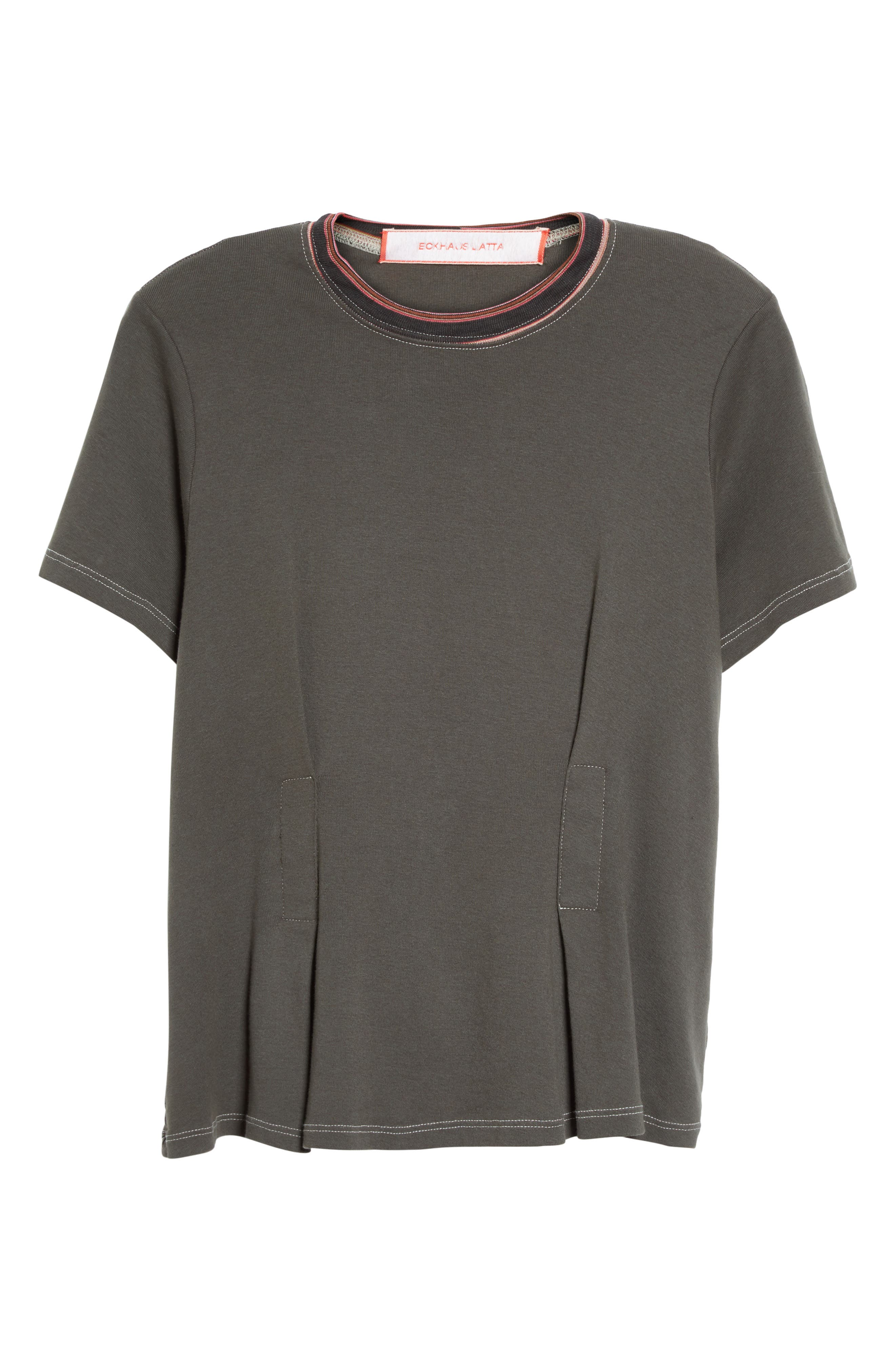 Top Stitch Tee,                             Alternate thumbnail 4, color,                             Off Black