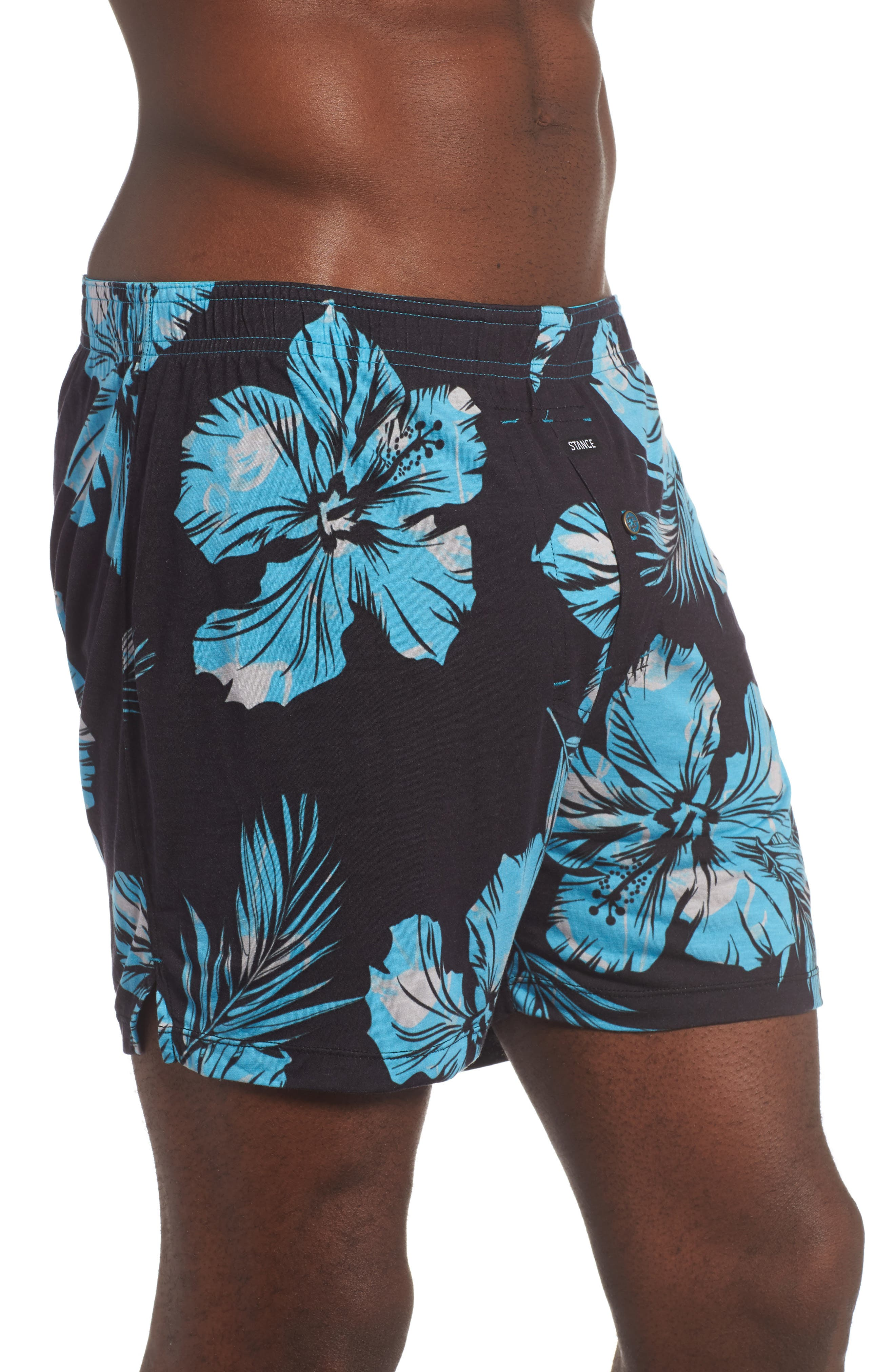 Mercato Flamingo Flowers Boxer Briefs,                             Alternate thumbnail 3, color,                             Blue
