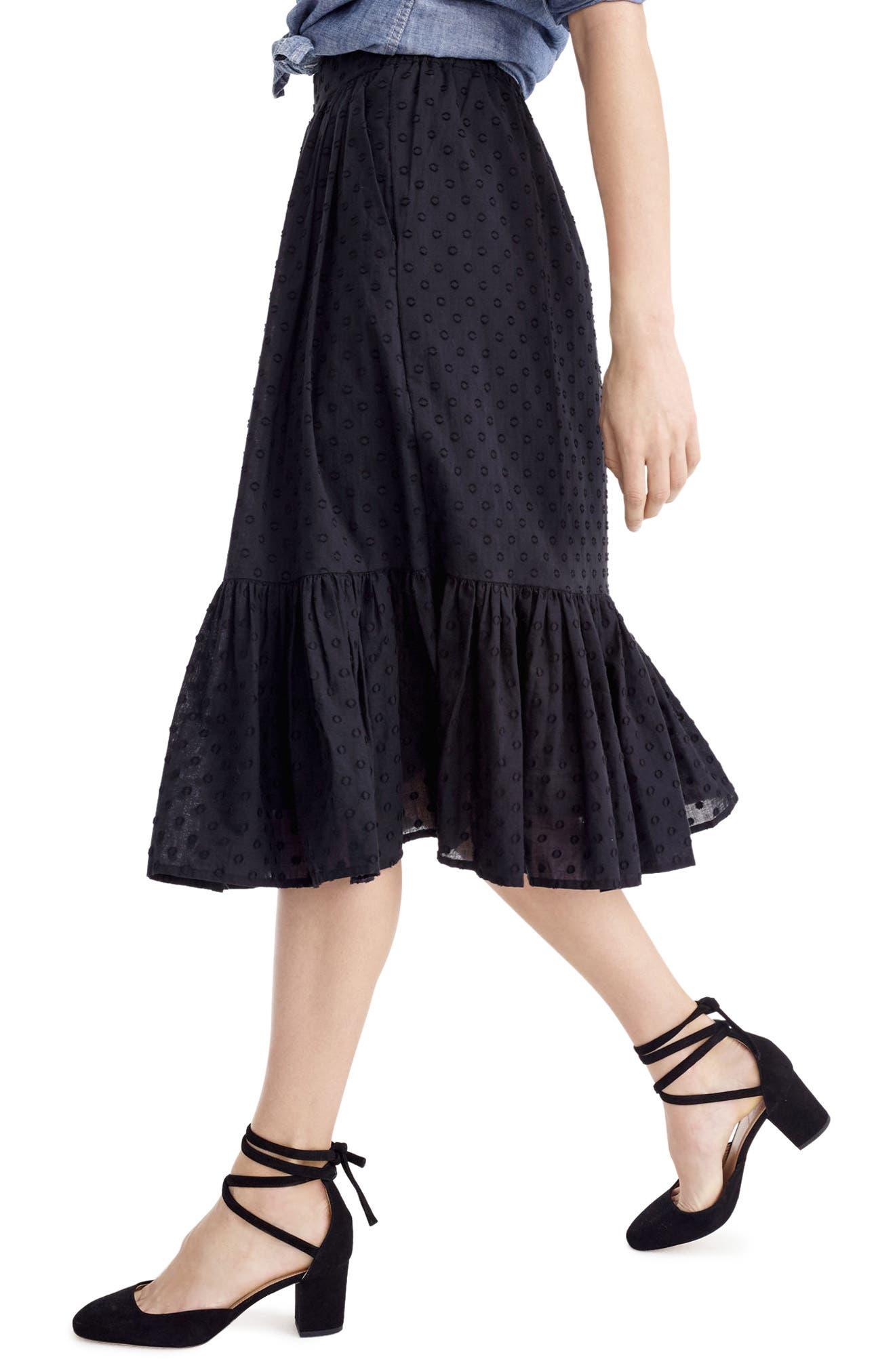 Alternate Image 2  - J.Crew Baluster Clip Dot Skirt (Regular & Petite)