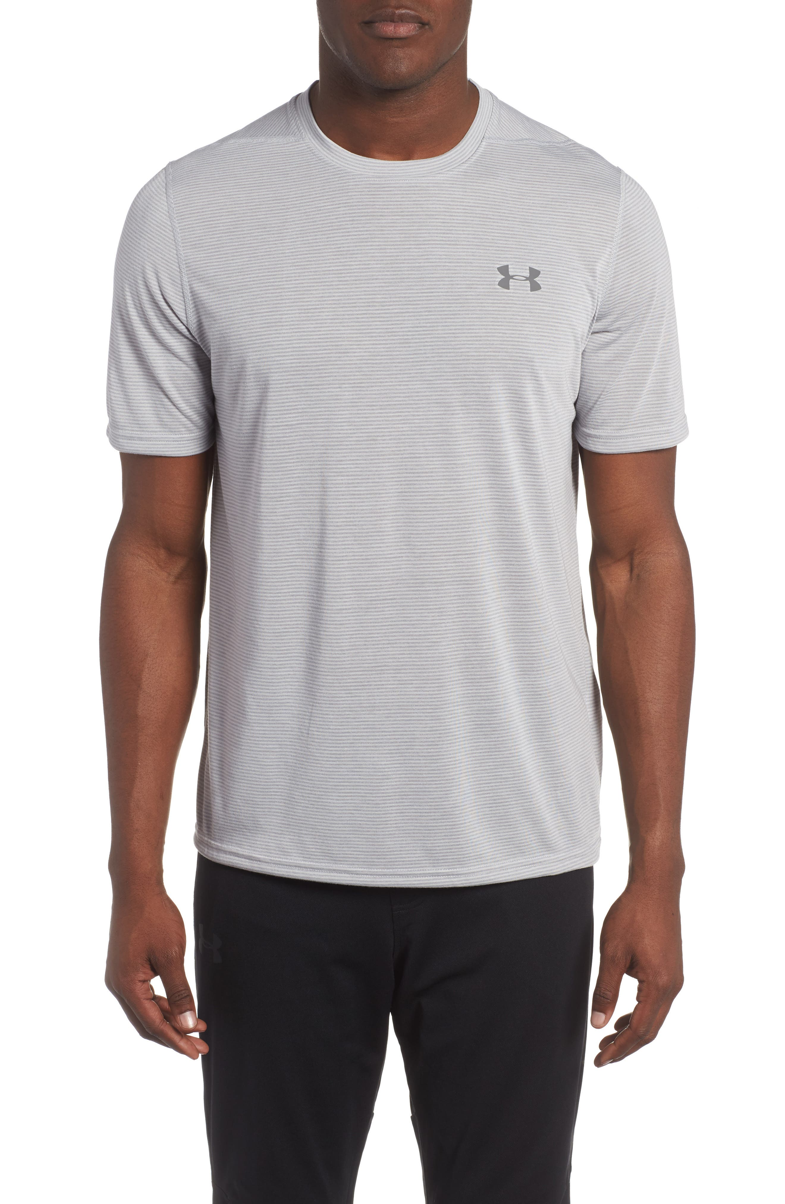 Threadborne Siro Regular Fit T-Shirt,                             Main thumbnail 1, color,                             Overcast Gray/ Graphite