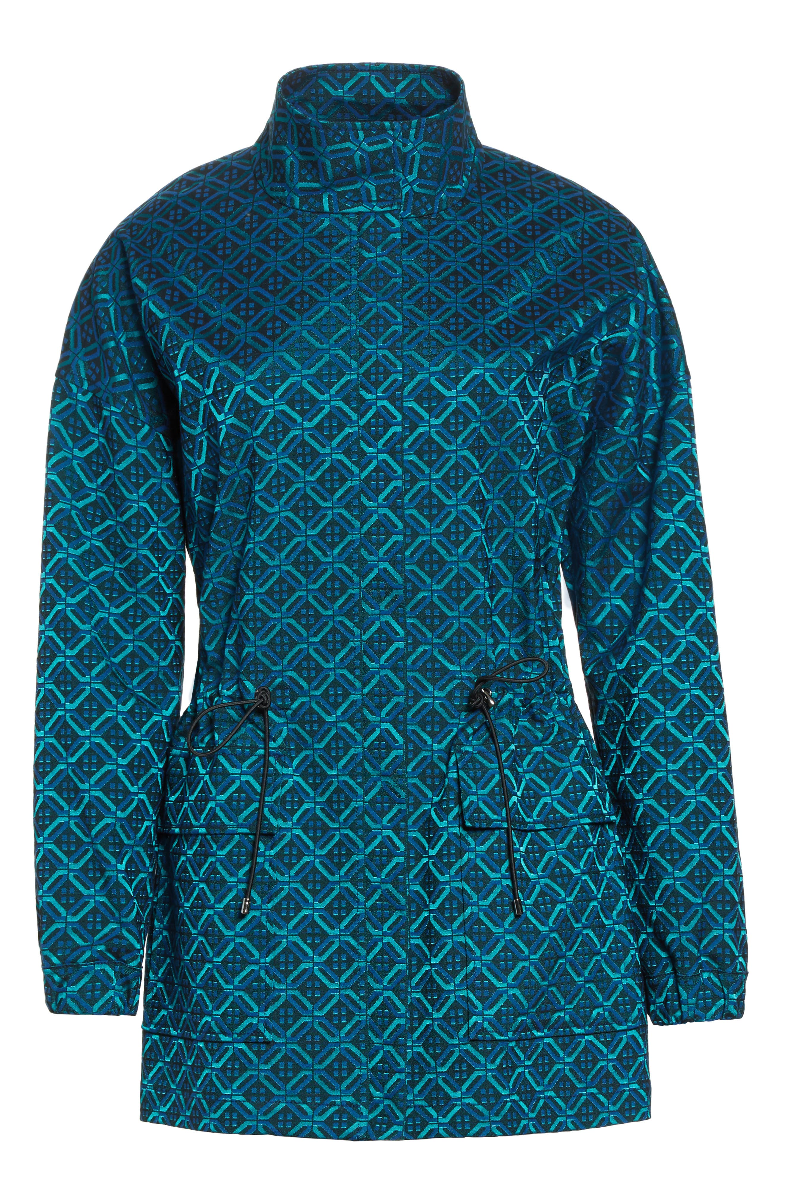 Alternate Image 6  - St. John Collection Tile Jacquard Funnel Neck Jacket