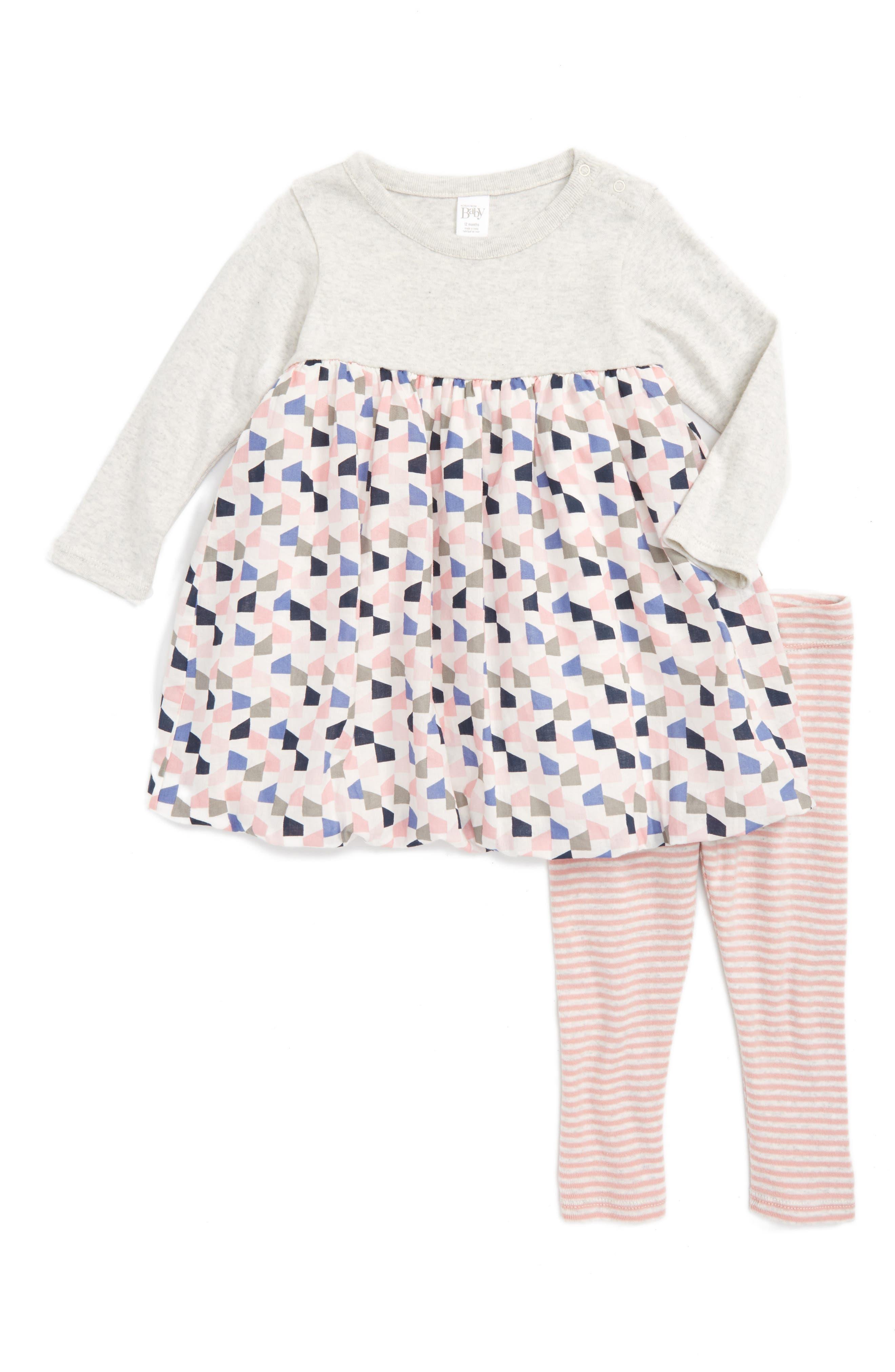 NORDSTROM BABY Dress & Leggings Set